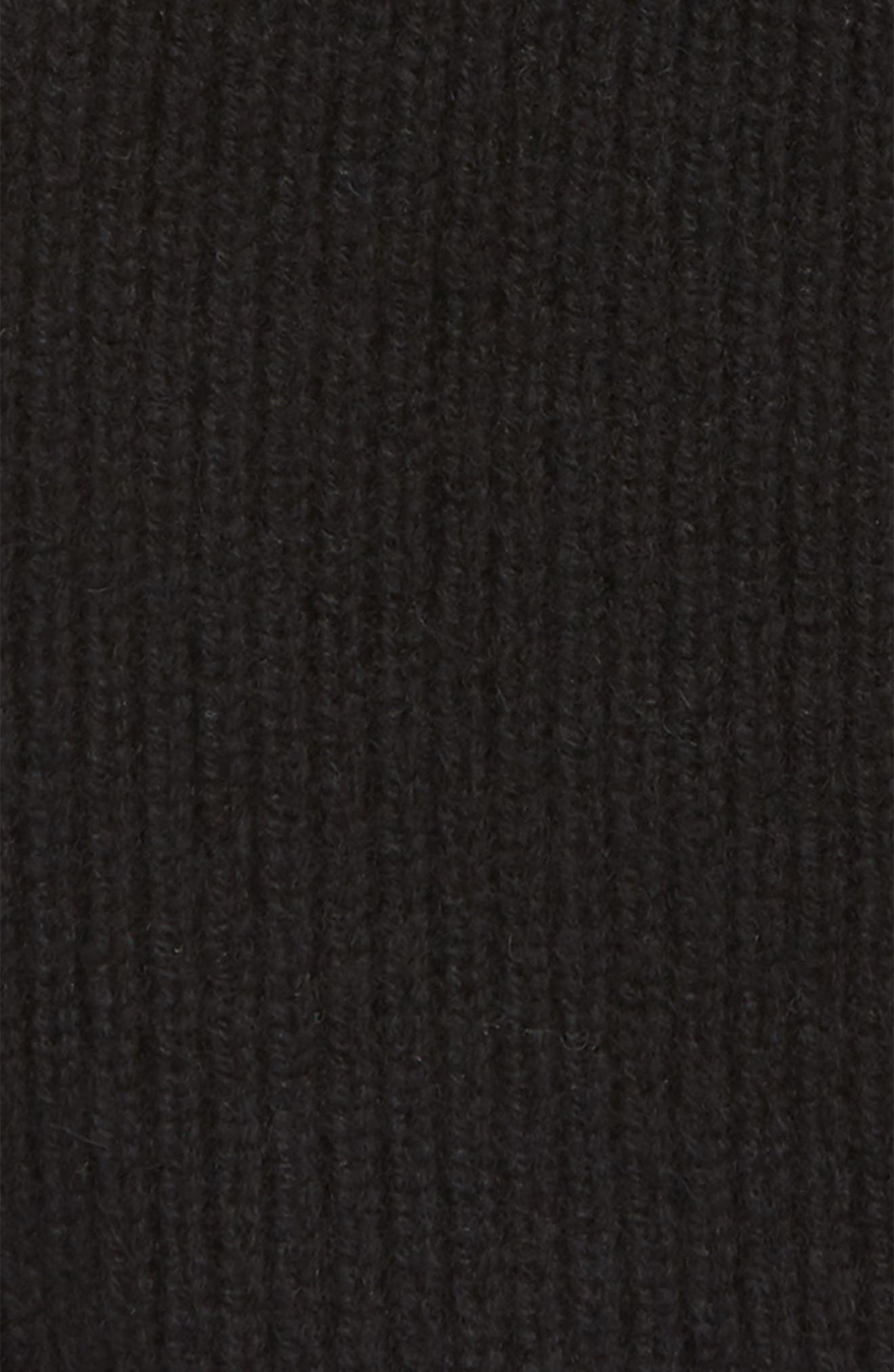 Ace Rib Knit Cashmere Beanie,                             Alternate thumbnail 2, color,                             001
