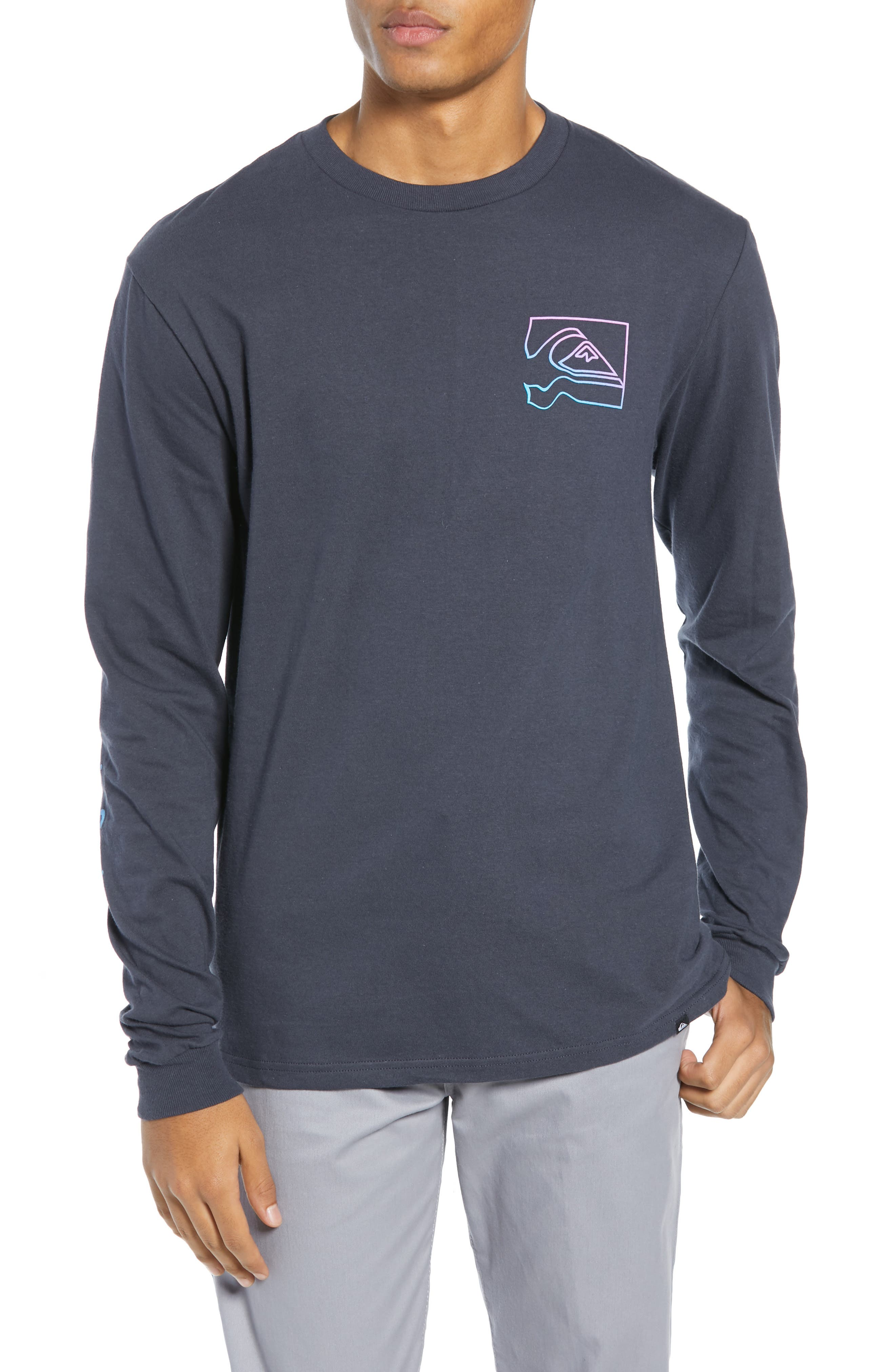QUIKSILVER Distortion T-Shirt in Blue Nights