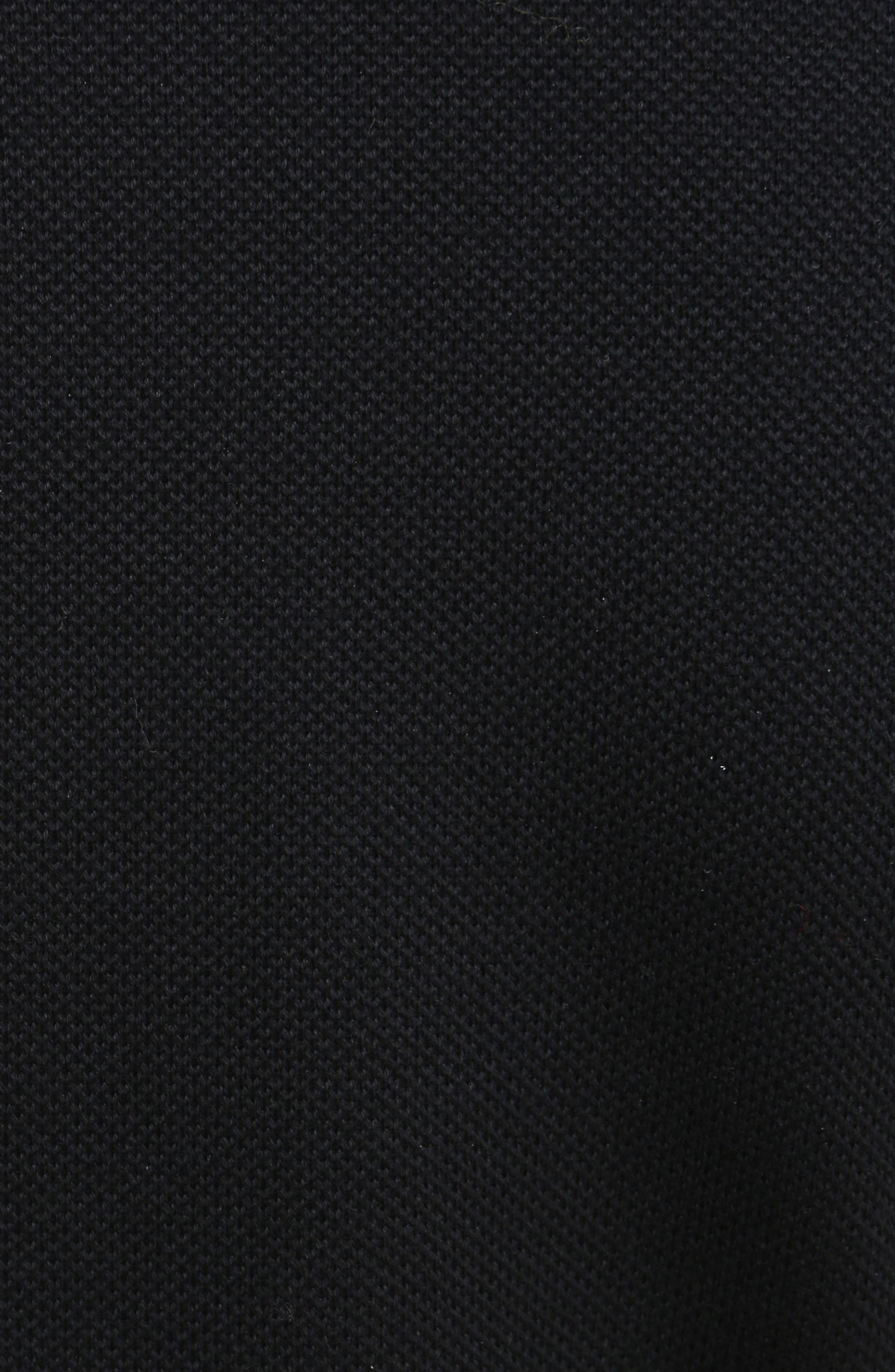 Star Embellished Polo Dress,                             Alternate thumbnail 5, color,                             001