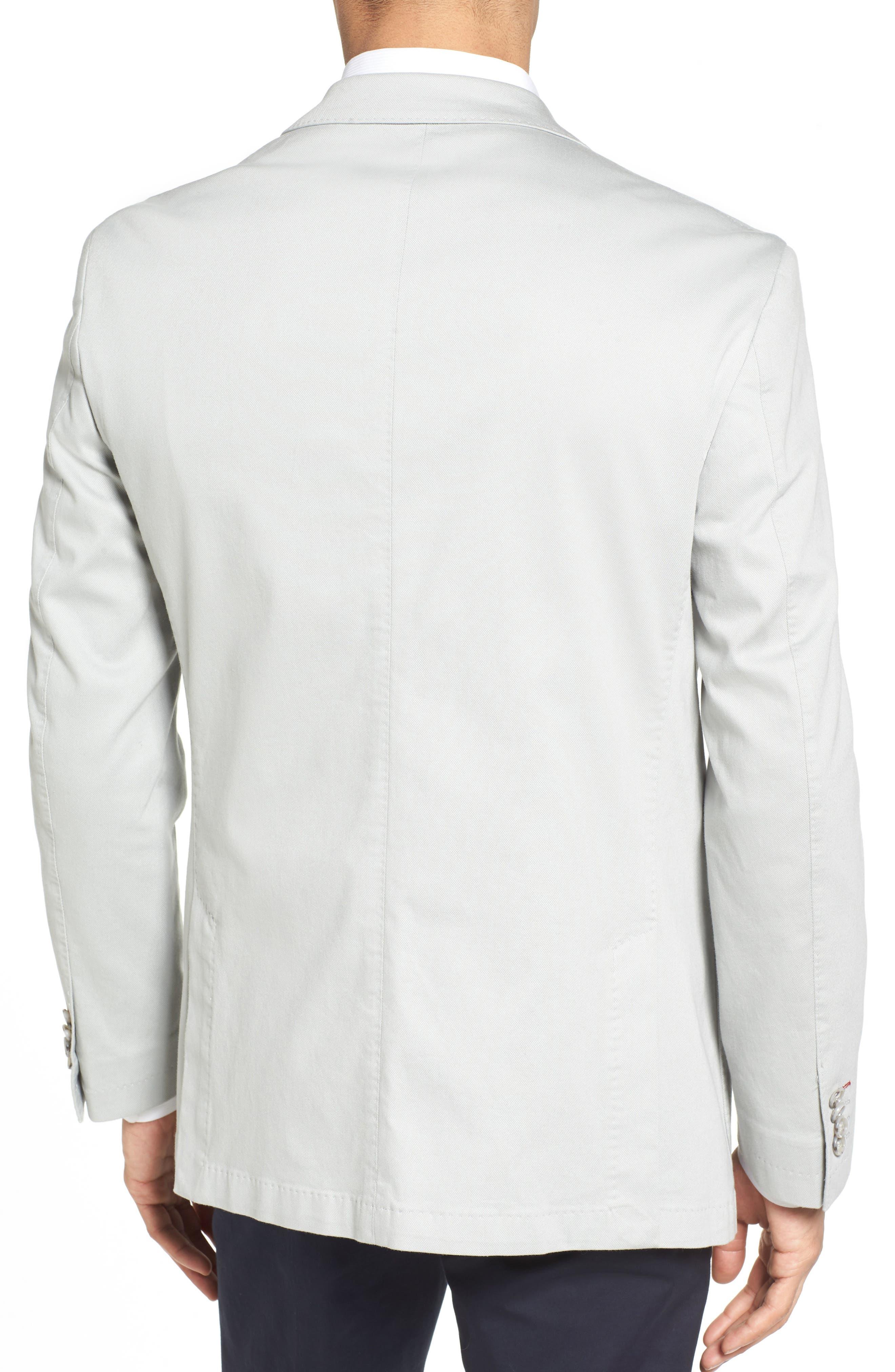 Trim Fit Stretch Cotton Blazer,                             Alternate thumbnail 2, color,                             051