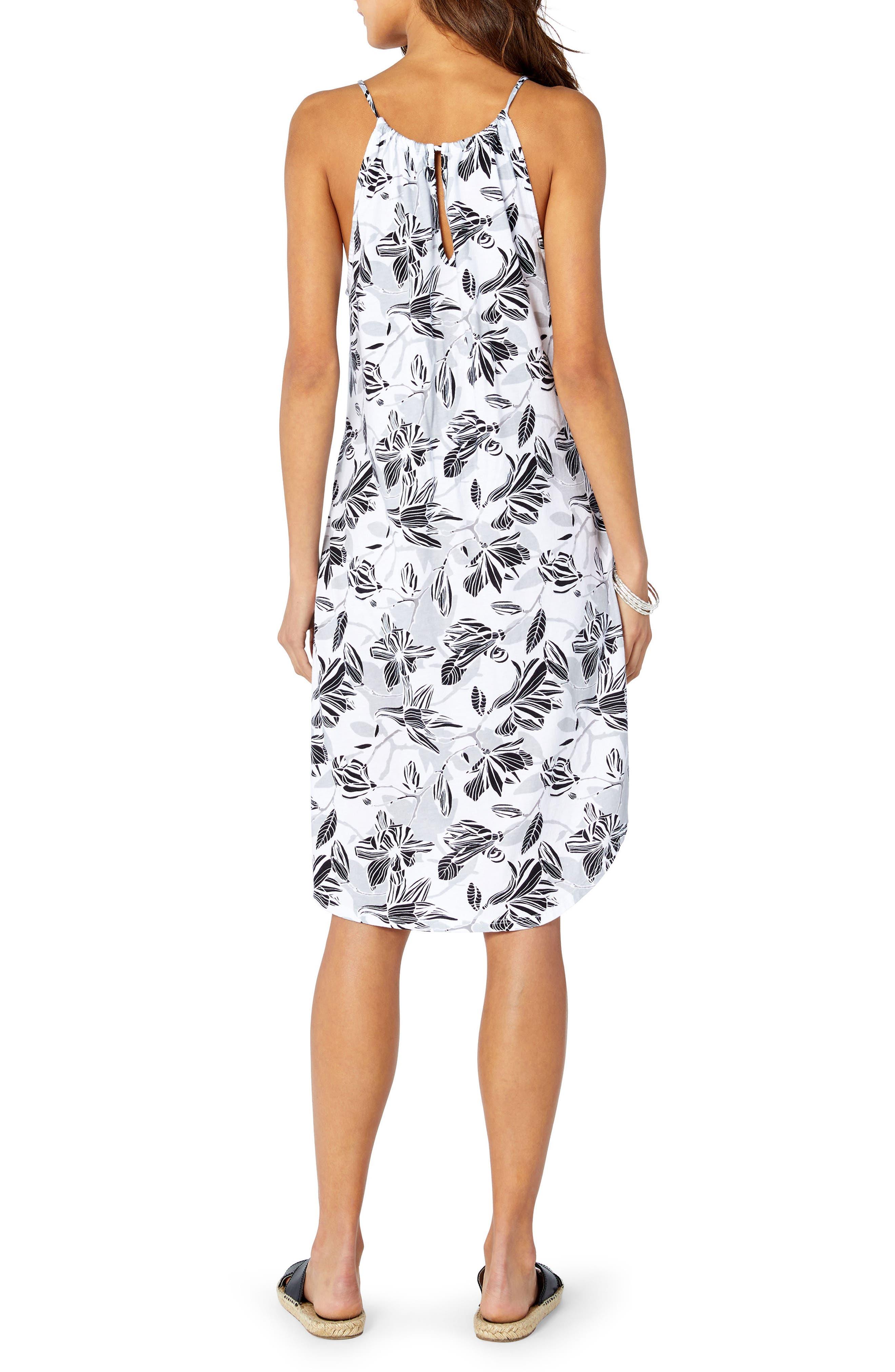 Floral Sun Dress,                             Alternate thumbnail 2, color,                             100