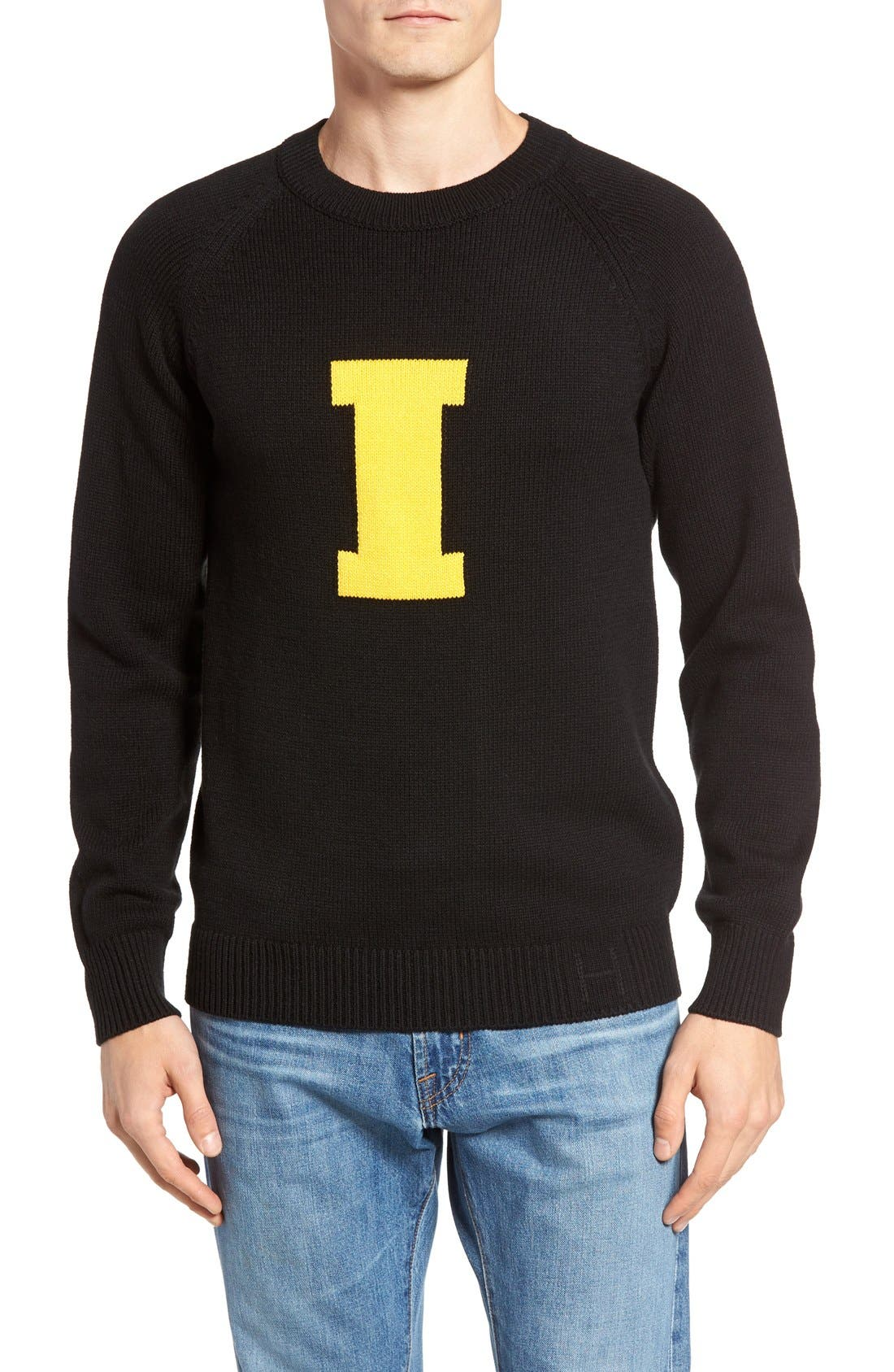 HILLFLINT Iowa Heritage Sweater, Main, color, 001