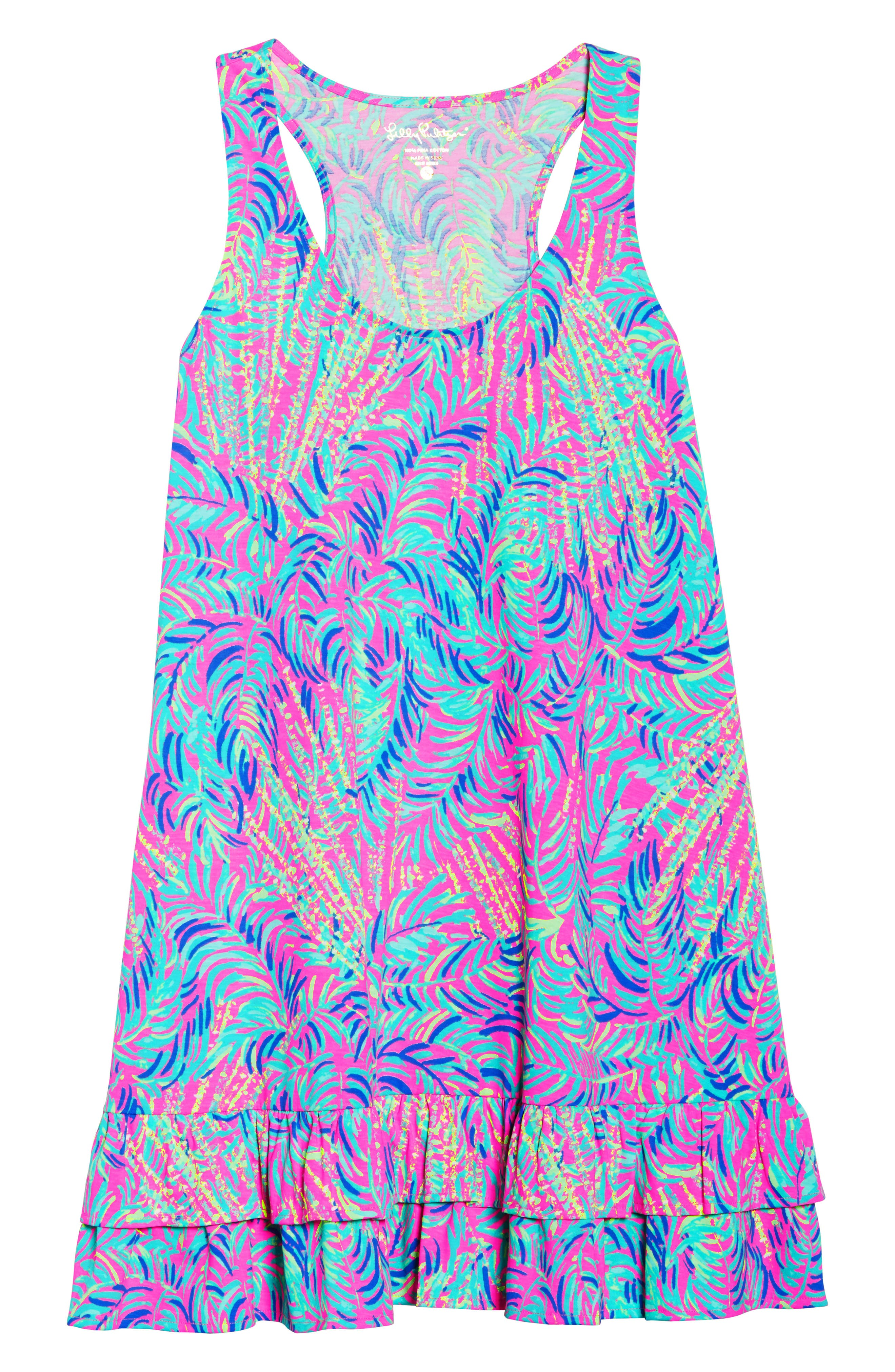 Evangelia Sleeveless Racerback Dress,                             Alternate thumbnail 7, color,                             650
