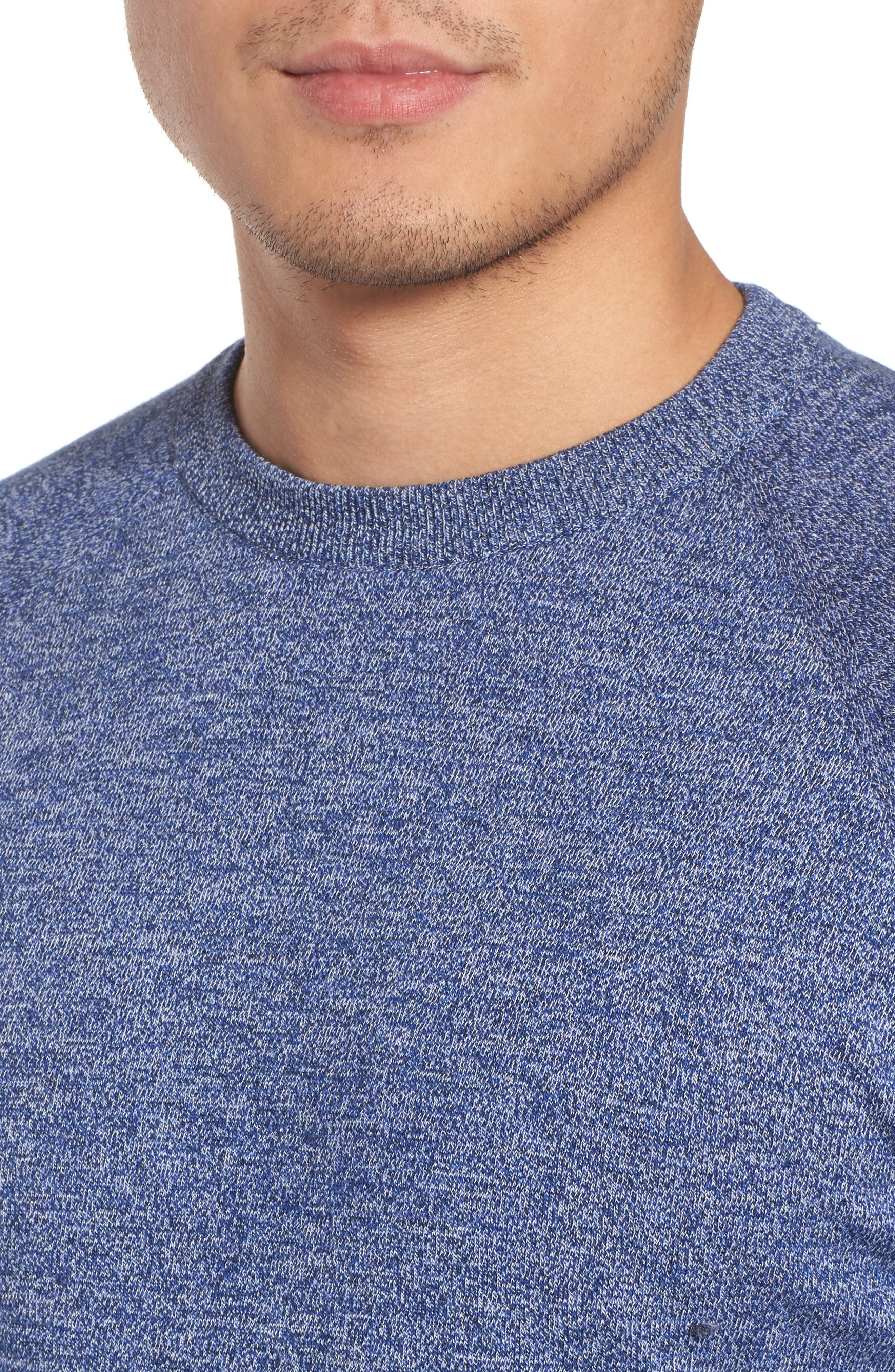 Space Dye Crewneck Shirt,                             Alternate thumbnail 4, color,                             450