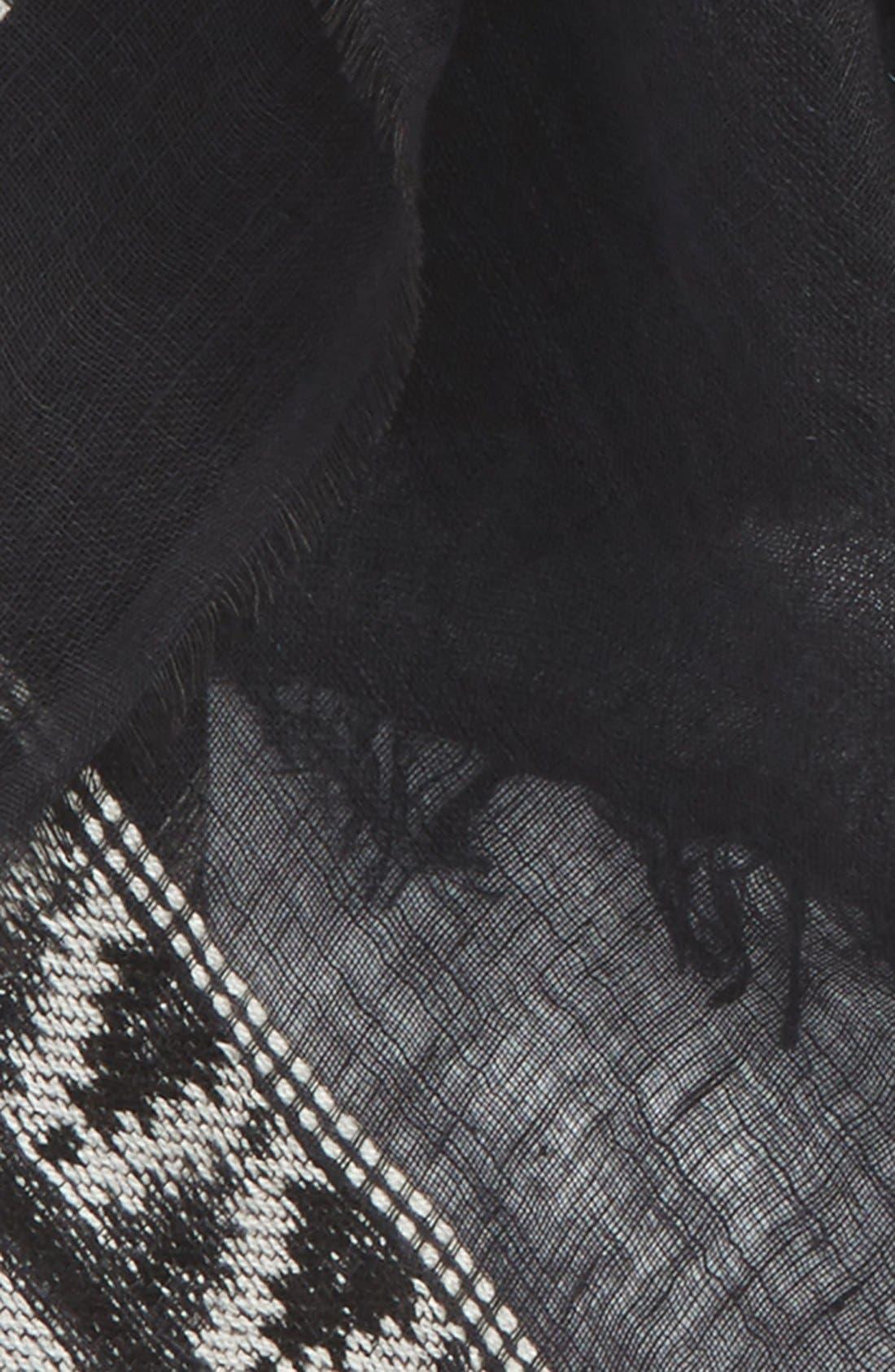'Tobago' Fringe Scarf,                             Alternate thumbnail 3, color,                             001