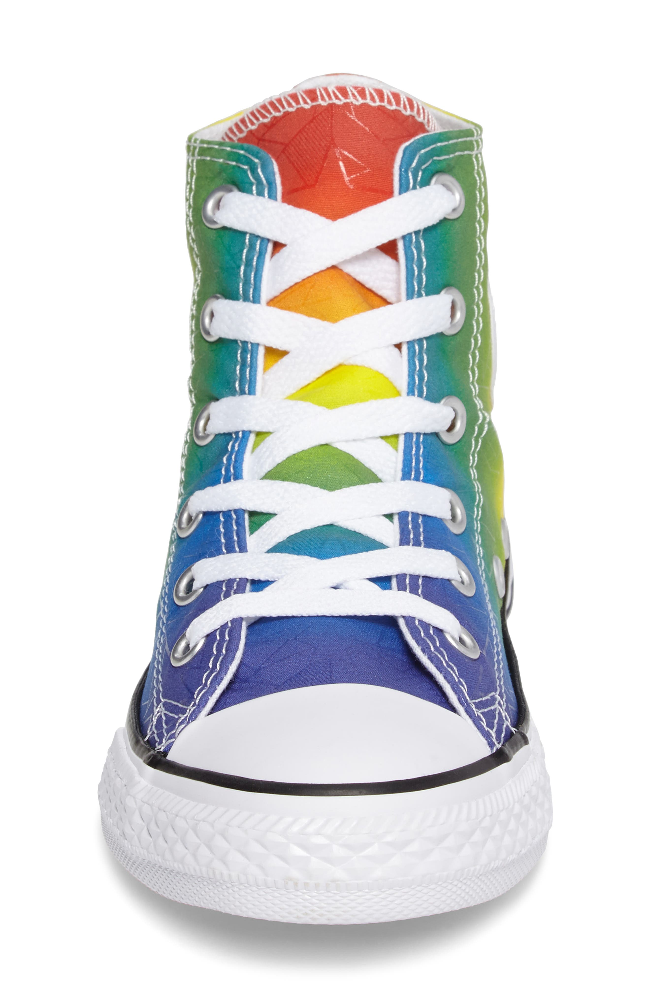 Chuck Taylor<sup>®</sup> All Star<sup>®</sup> Pride High Top Sneaker,                             Alternate thumbnail 4, color,                             400