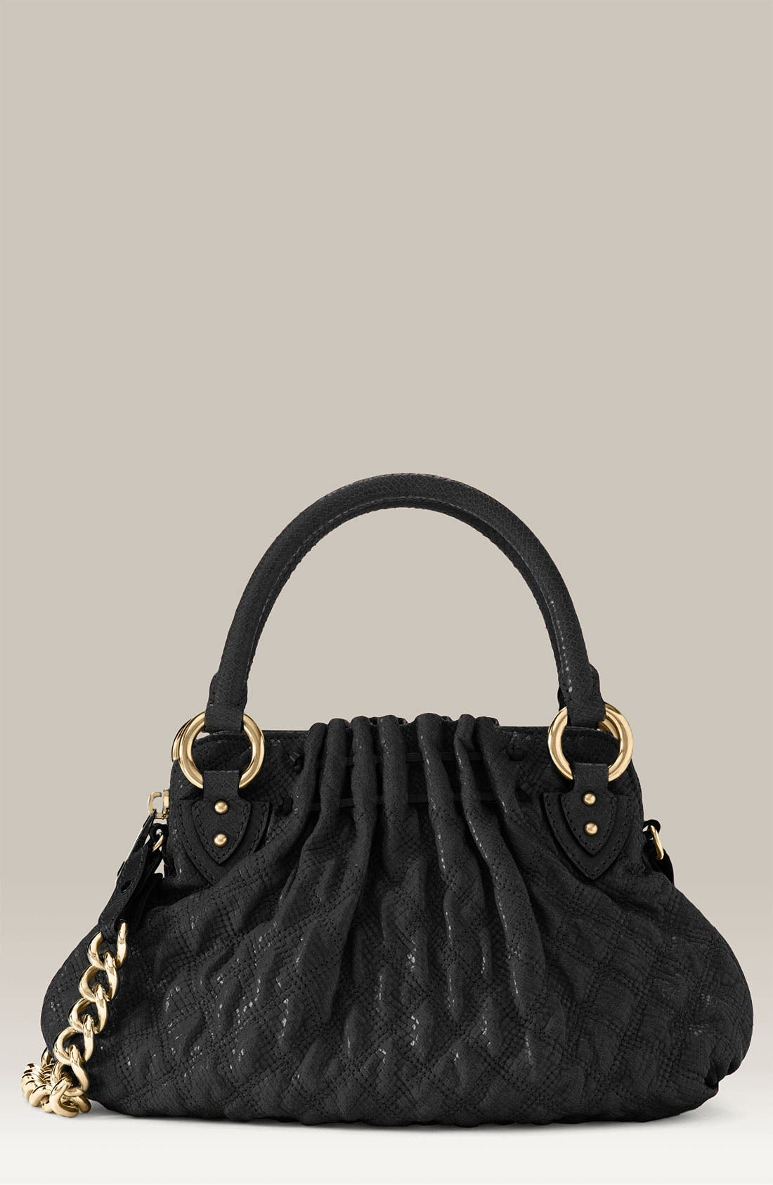 'Cecilia - Small' Quilted Leather Bag,                             Main thumbnail 1, color,                             001