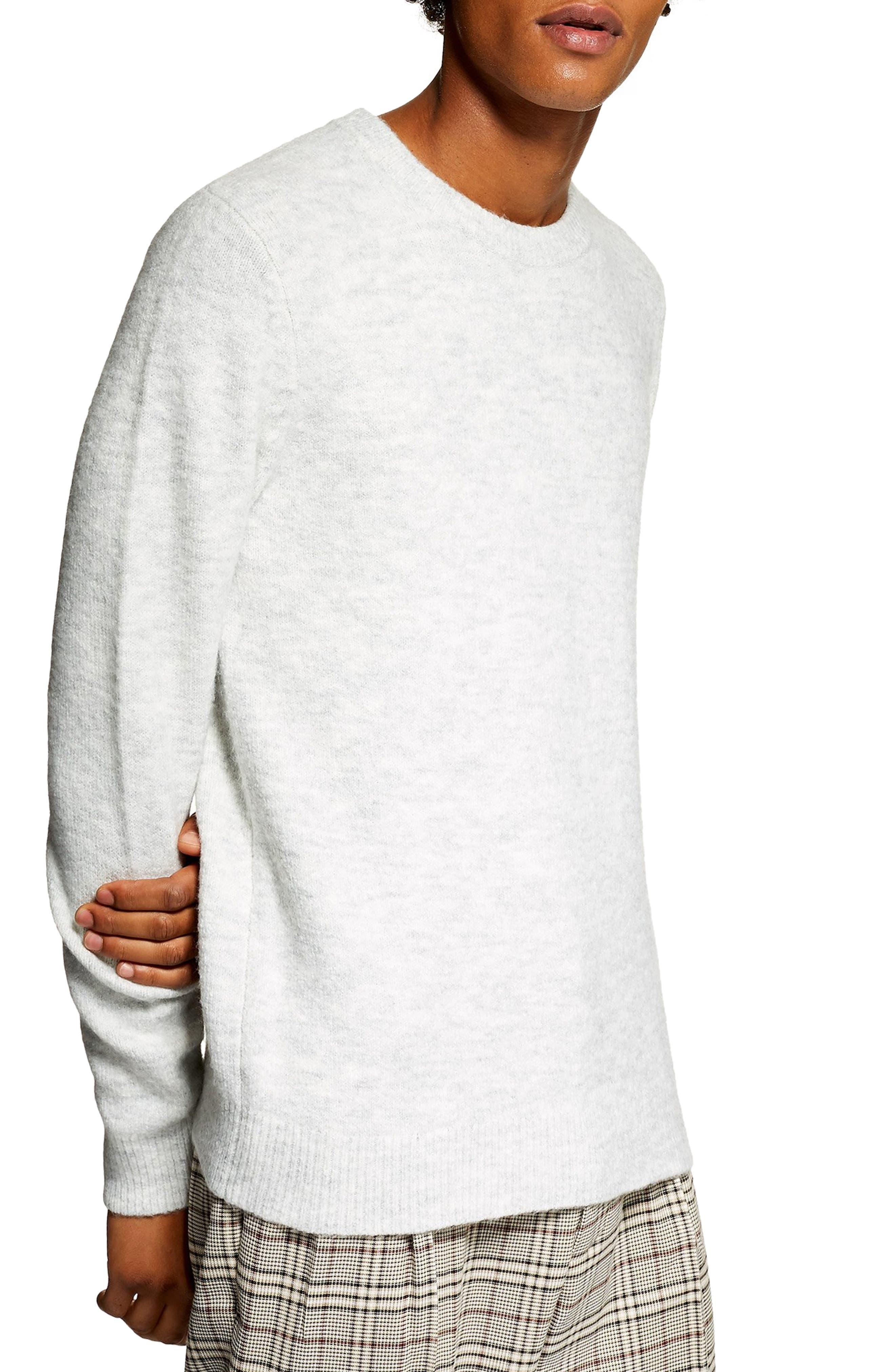 Topman Harlow Classic Fit Sweater, Grey