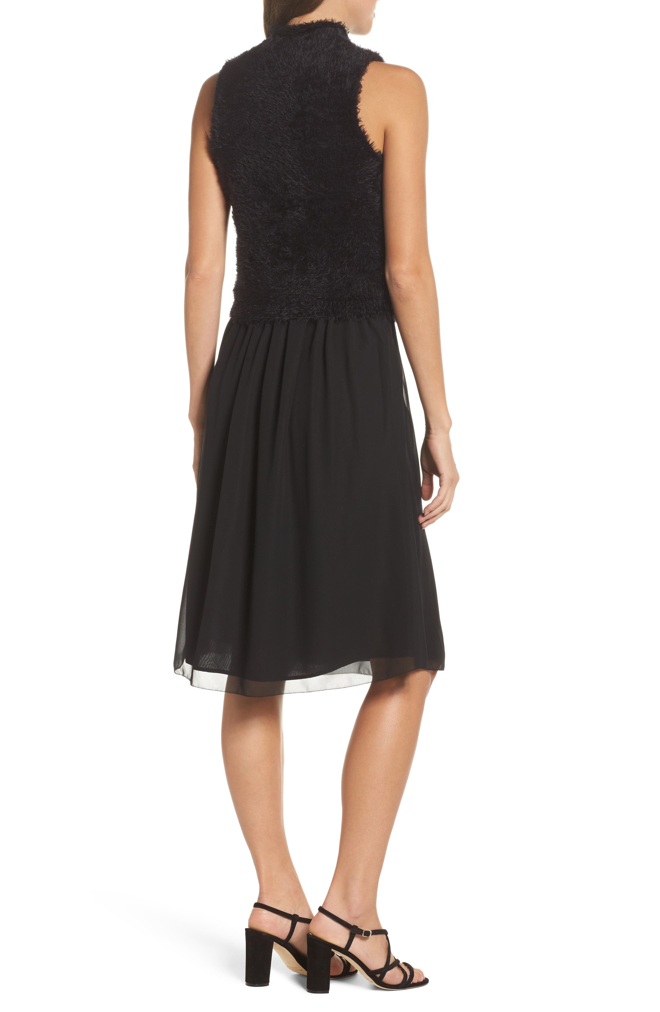 NIC + ZOE Lace-Up Dress,                             Alternate thumbnail 2, color,                             004