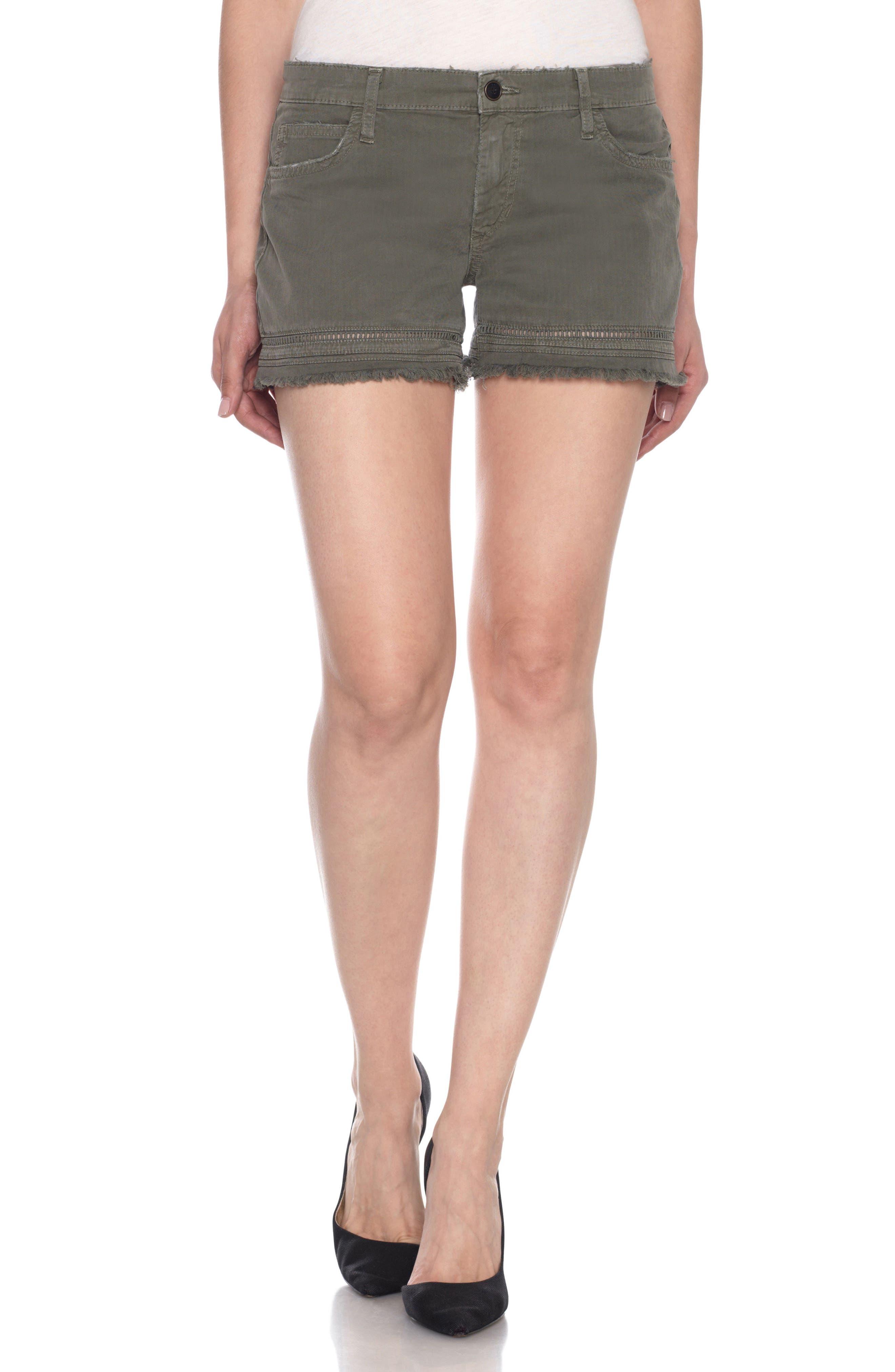 Ozzie Cutoff Denim Shorts,                             Main thumbnail 1, color,                             300