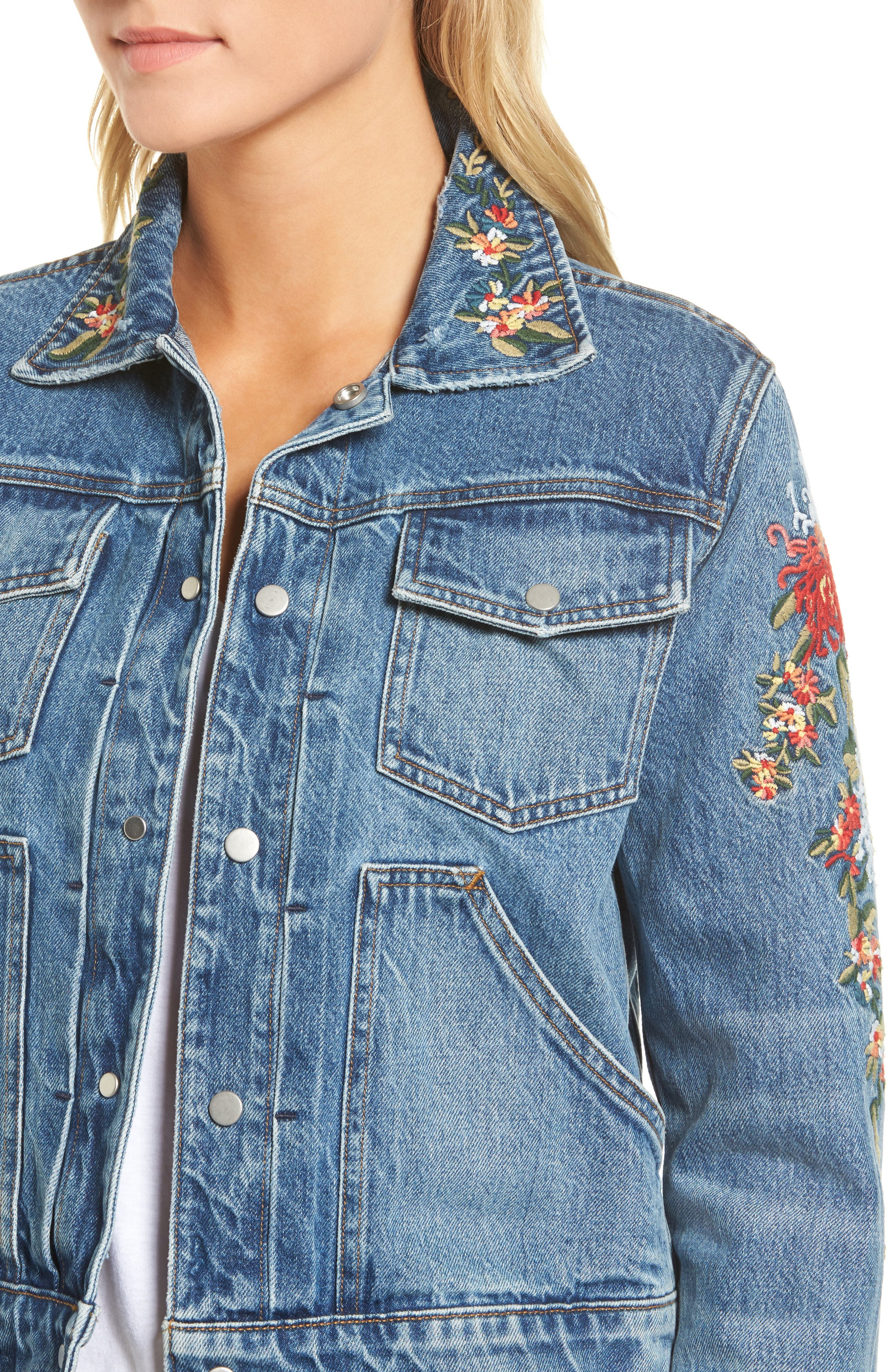 Ren Denim Trucker Jacket,                             Alternate thumbnail 8, color,