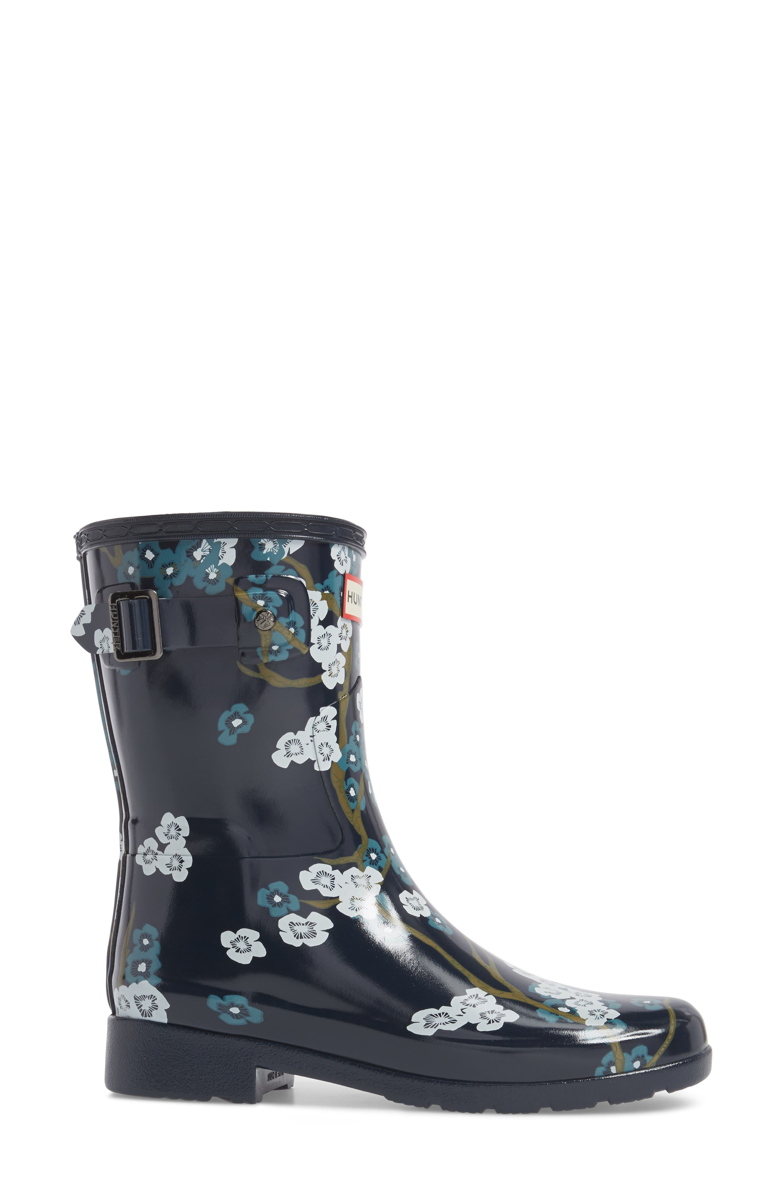 'Original Refined' Short Rain Boot,                             Alternate thumbnail 3, color,                             400