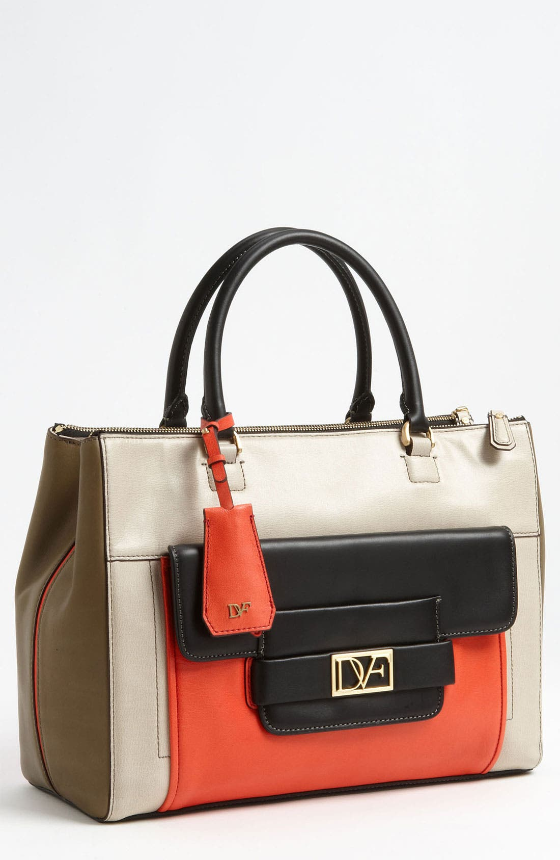 'Eva' Colorblock Tote,                             Main thumbnail 1, color,                             251
