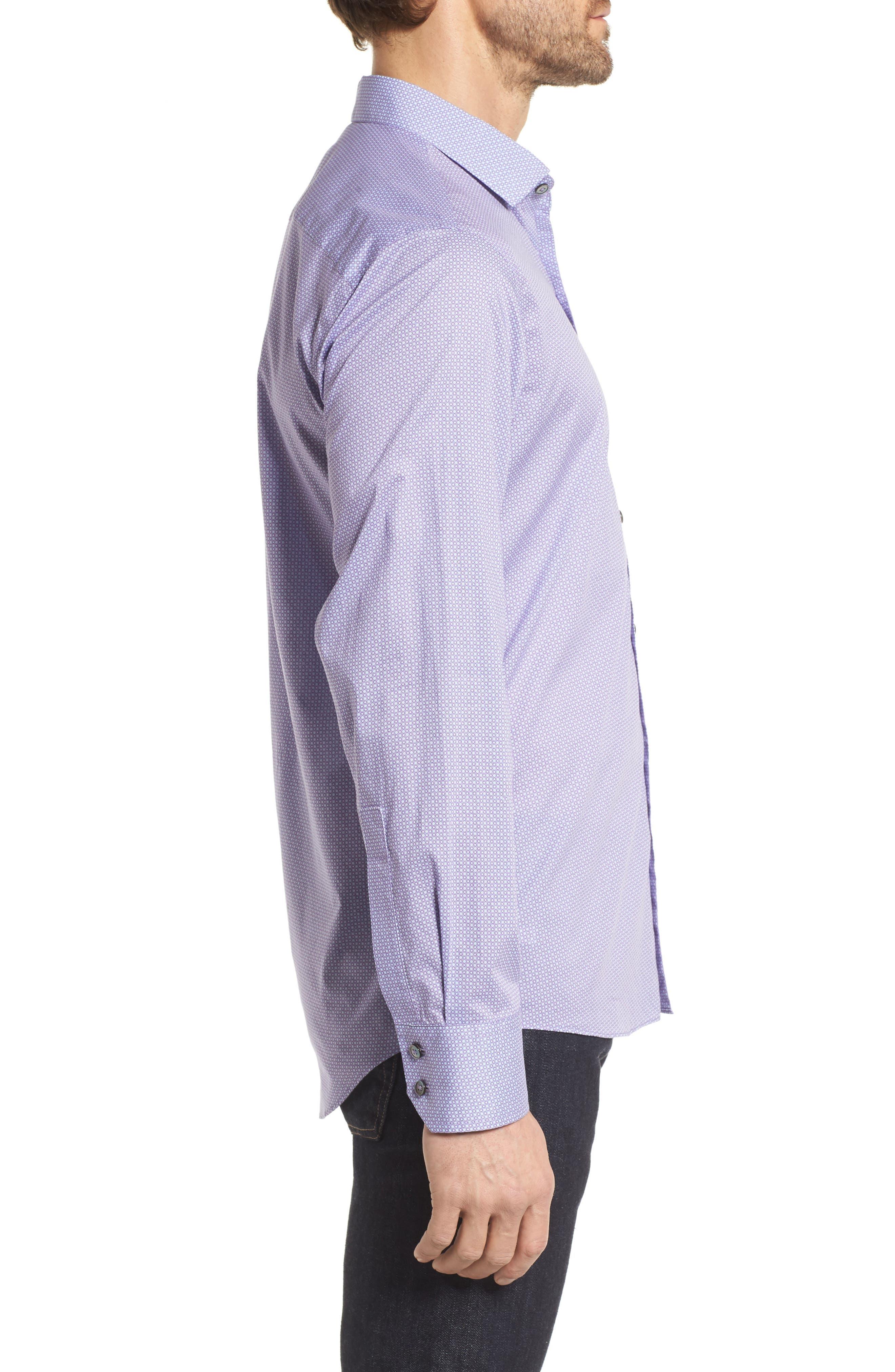 O'Malley Circle Print Sport Shirt,                             Alternate thumbnail 3, color,                             500