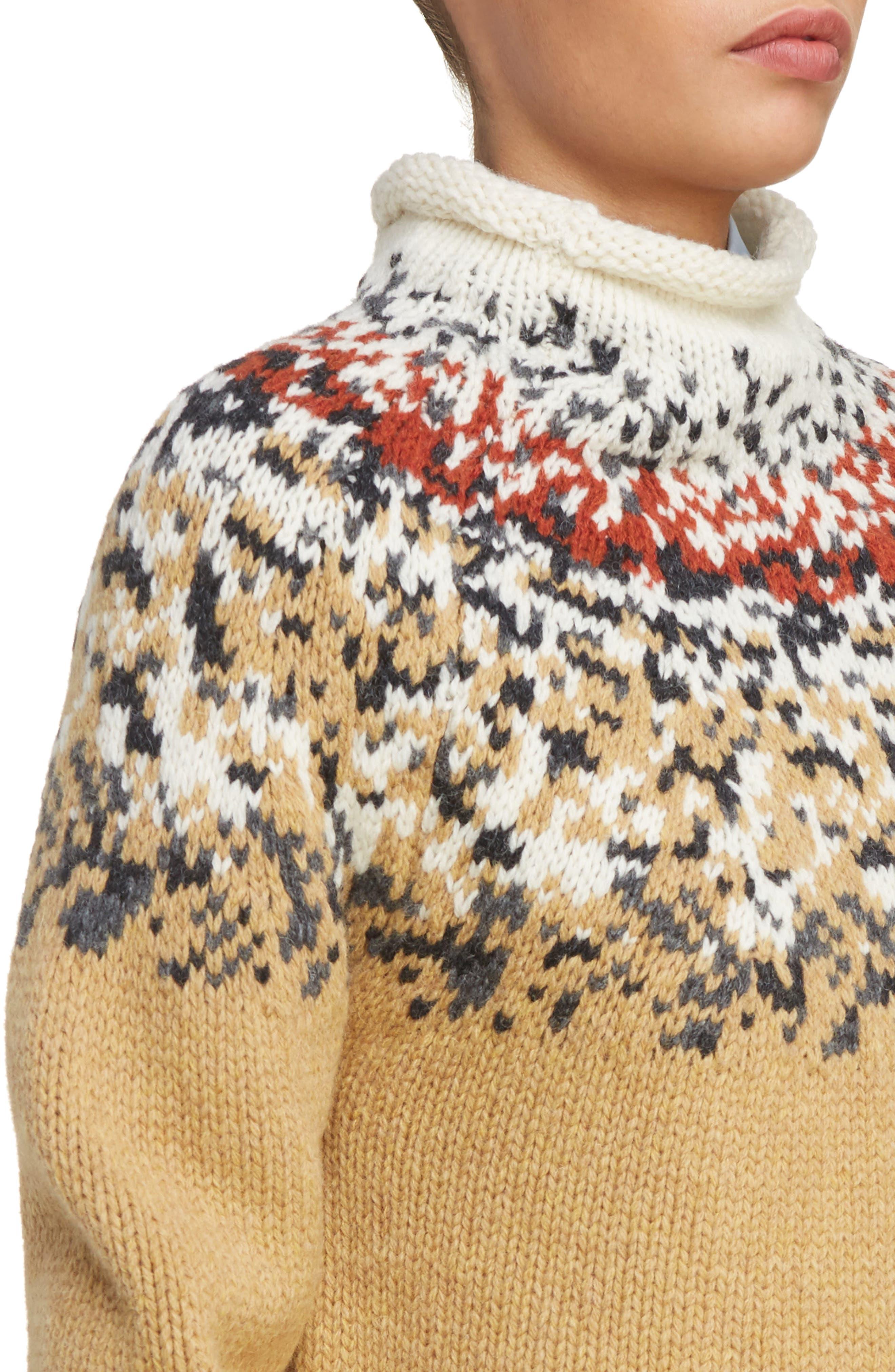 Sirius Heavy Icelandic High Neck Sweater,                             Alternate thumbnail 4, color,                             250