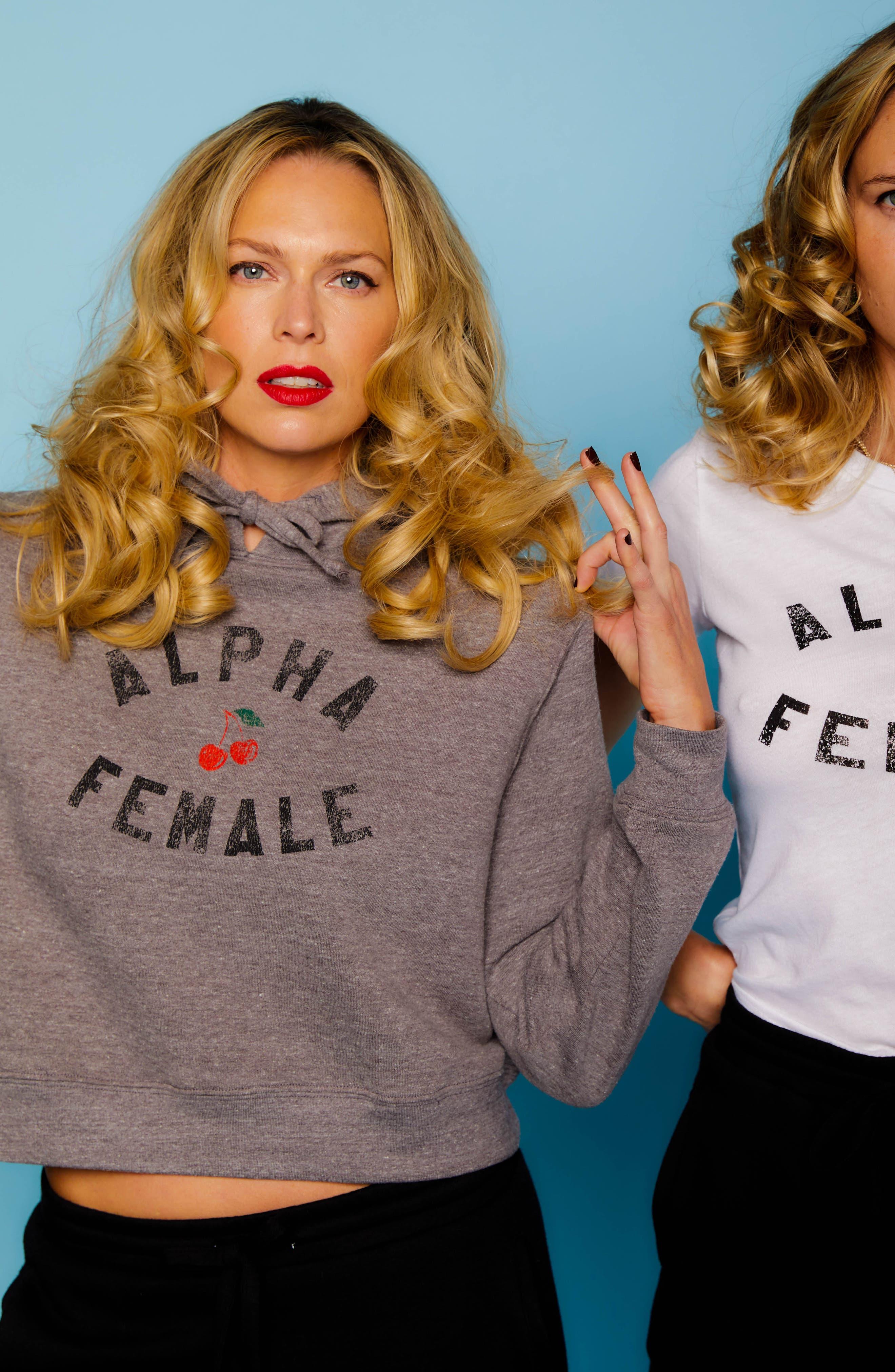 x Erin & Sara Alpha Female Crop Sweatshirt,                             Alternate thumbnail 7, color,                             050