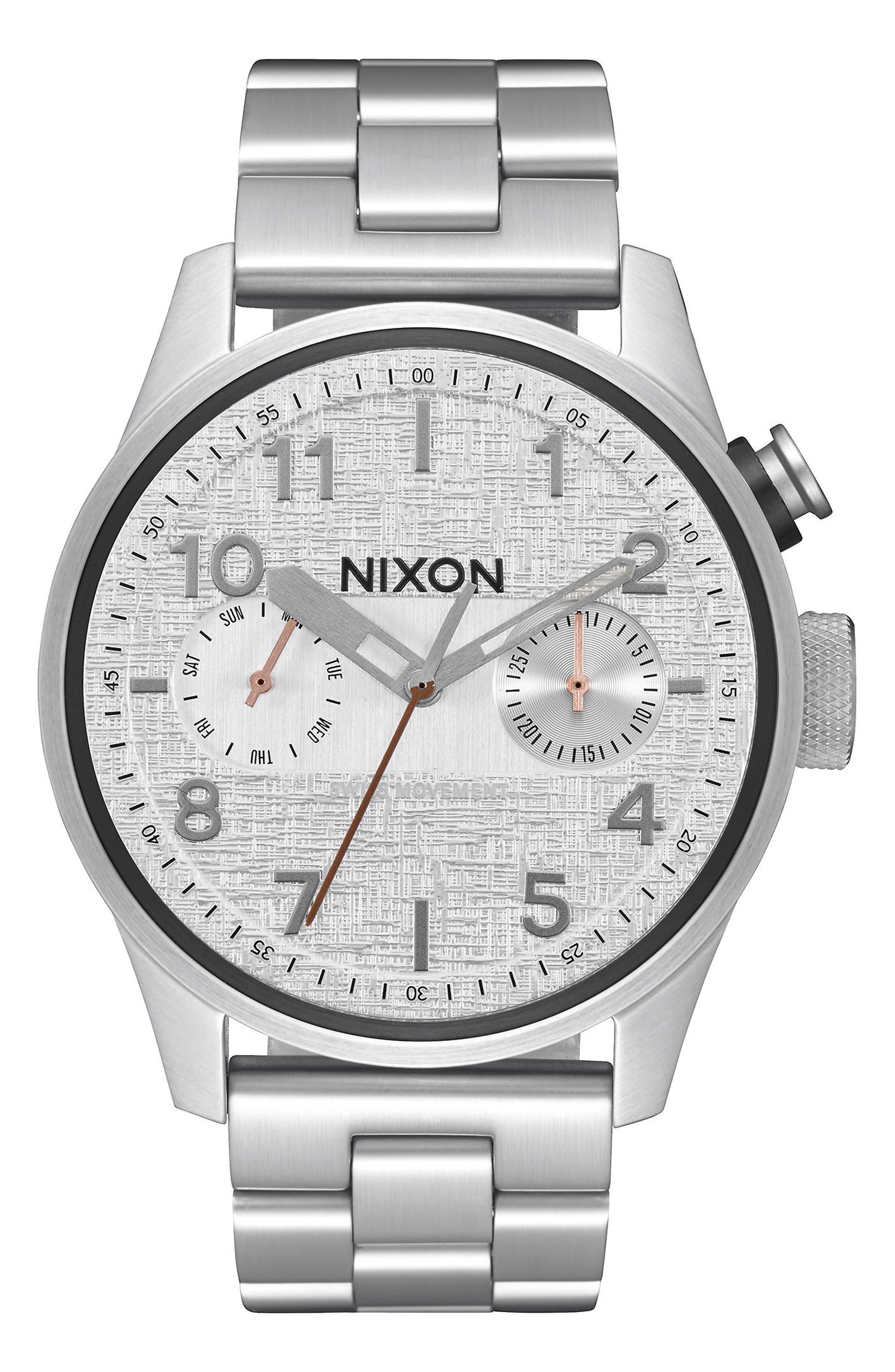 'Safari Deluxe' Bracelet Watch, 43mm,                             Main thumbnail 1, color,                             044