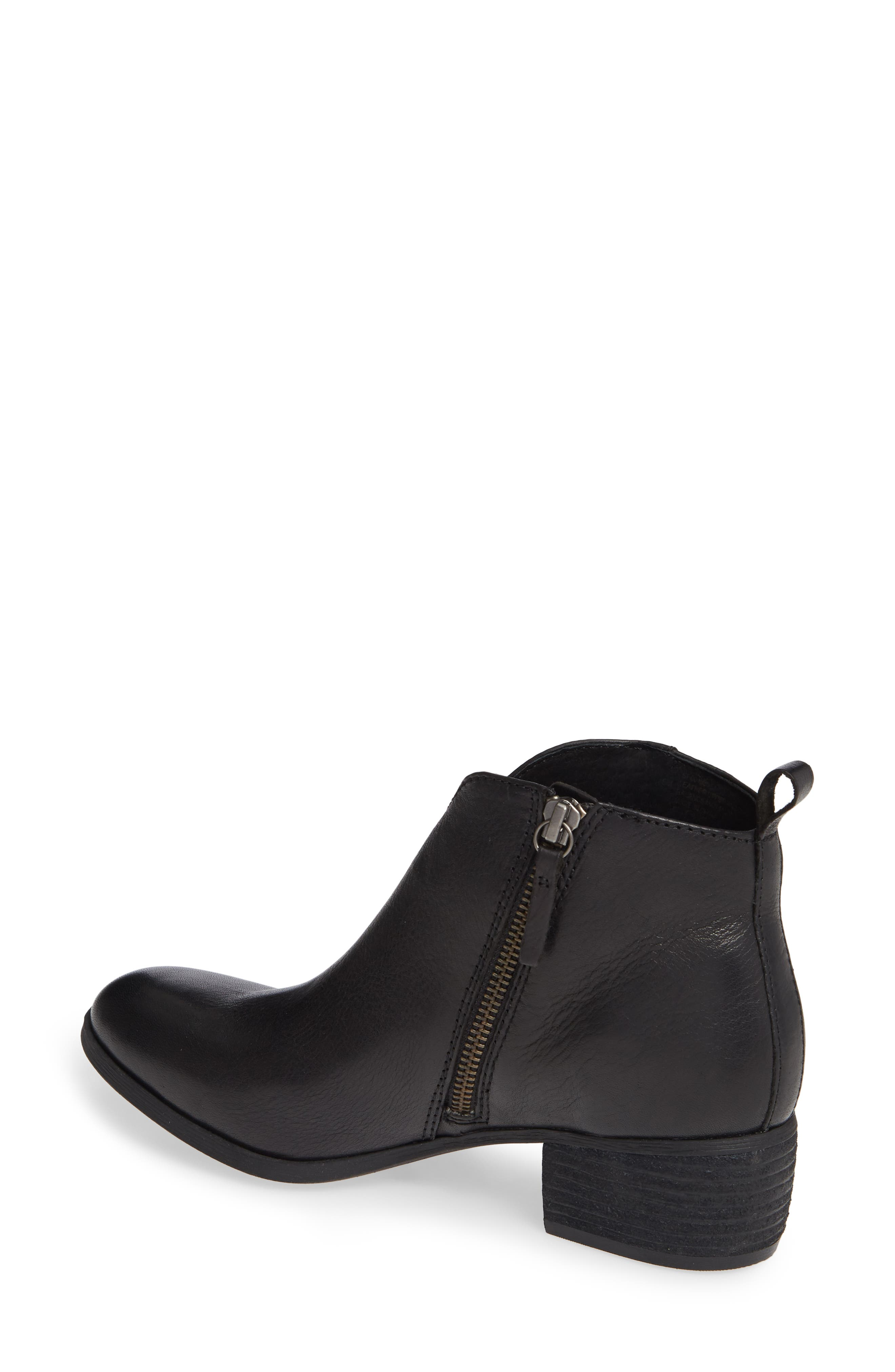 Coleta Bootie,                             Alternate thumbnail 2, color,                             BLACK LEATHER