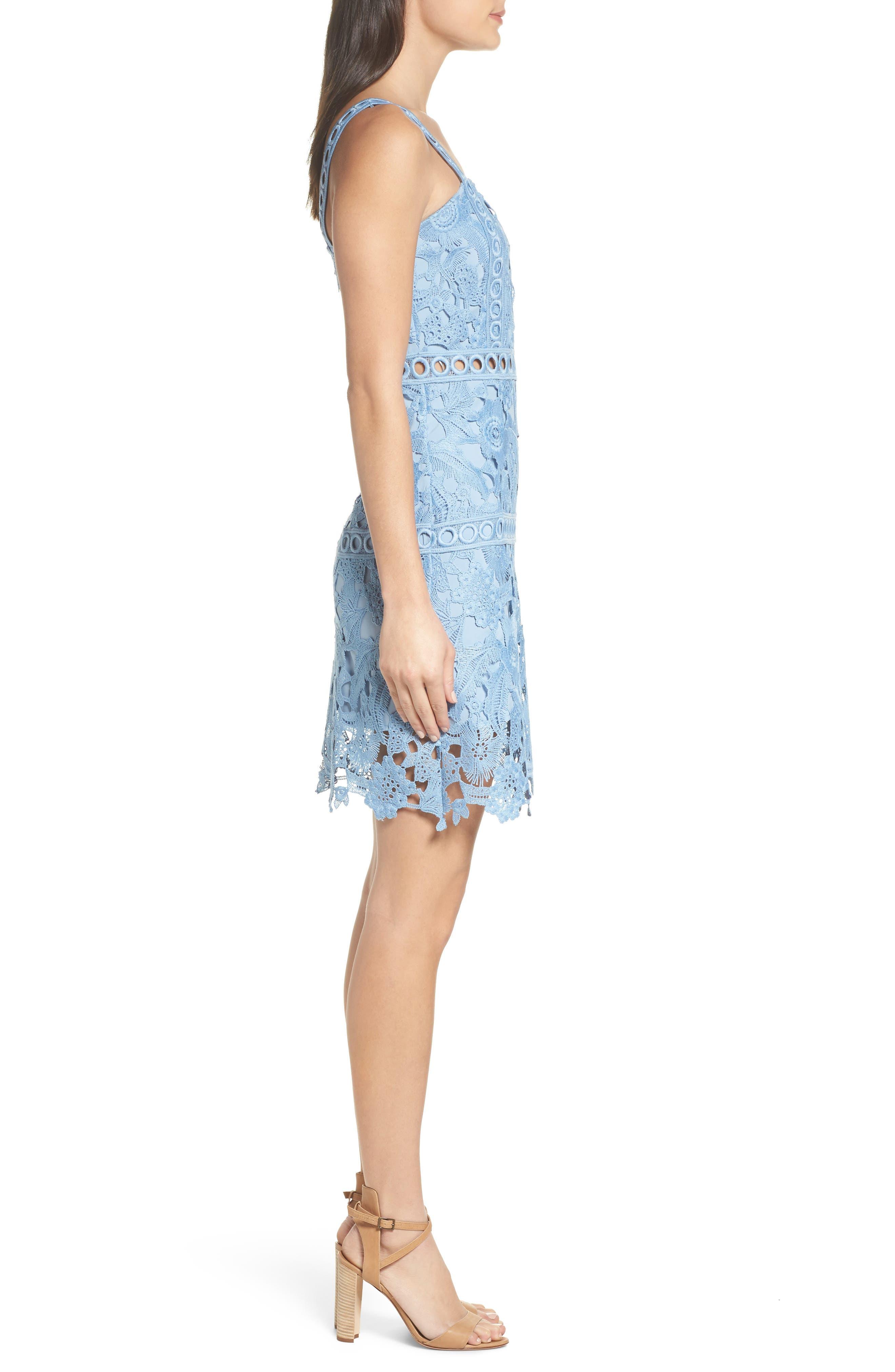 Lace Sheath Dress,                             Alternate thumbnail 3, color,                             435
