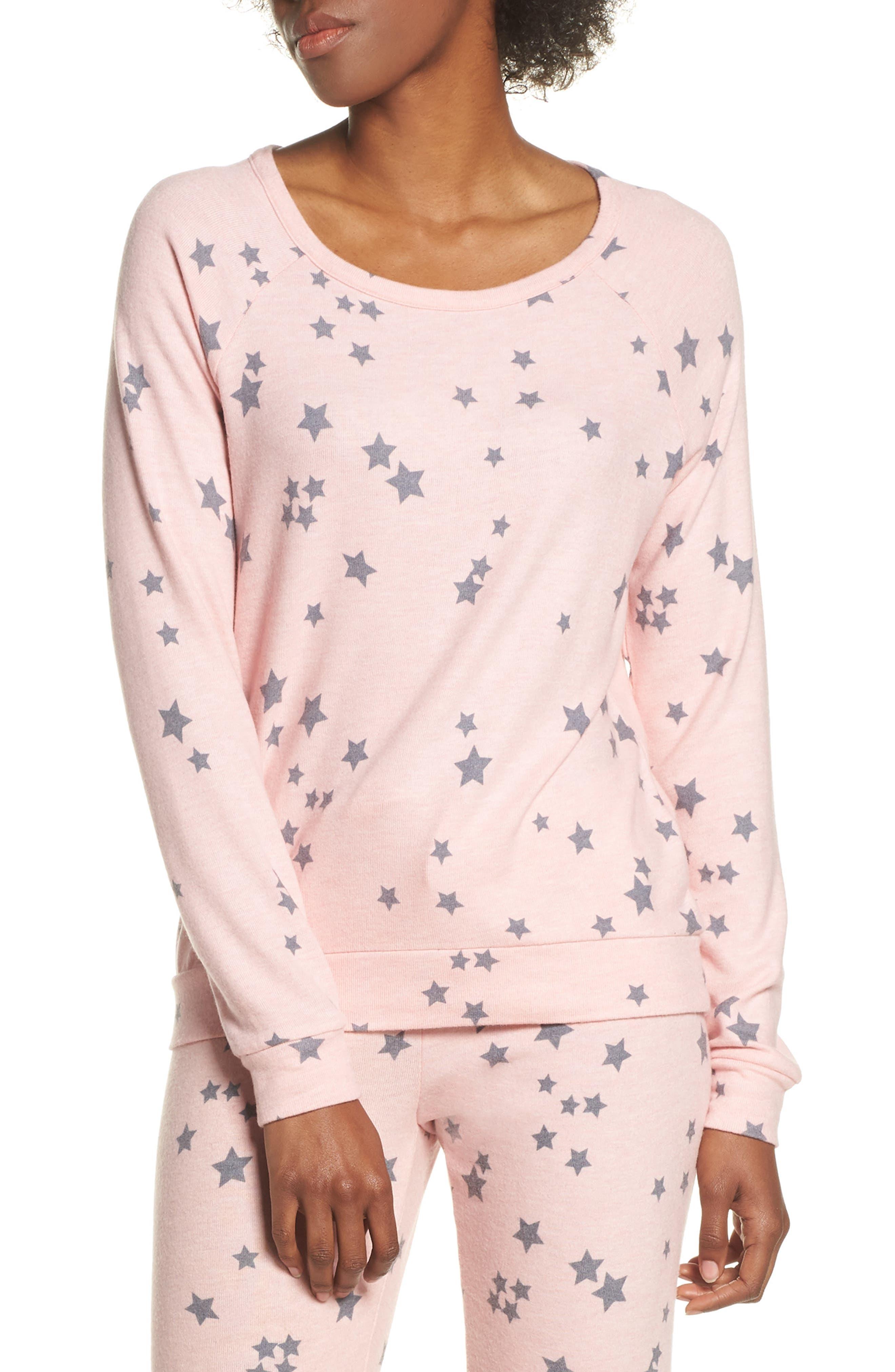Pj Salvage Peachy Party Pajama Top, Pink