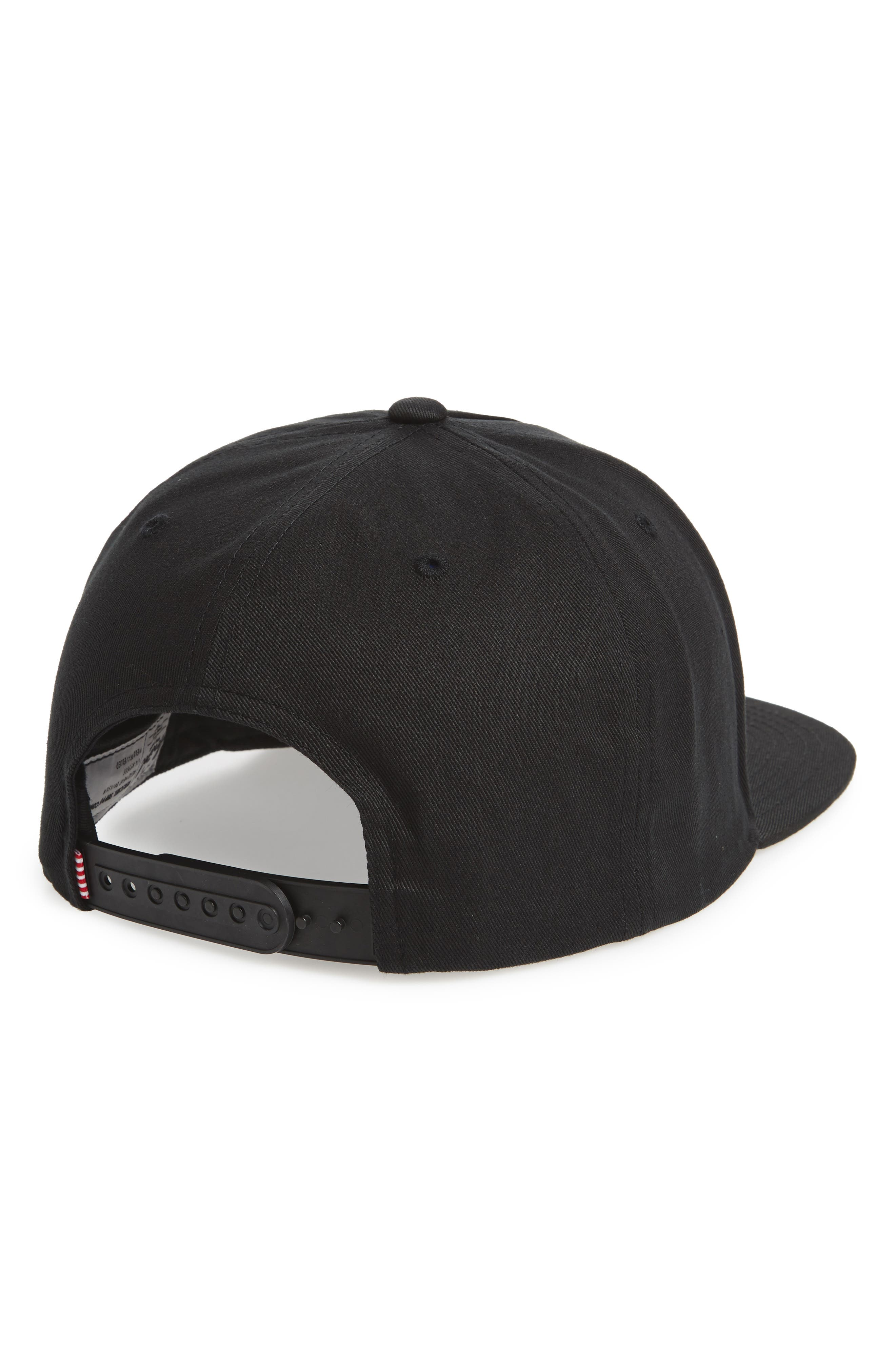 HERSCHEL SUPPLY CO.,                             Dean Snapback Baseball Cap,                             Alternate thumbnail 2, color,                             BLACK