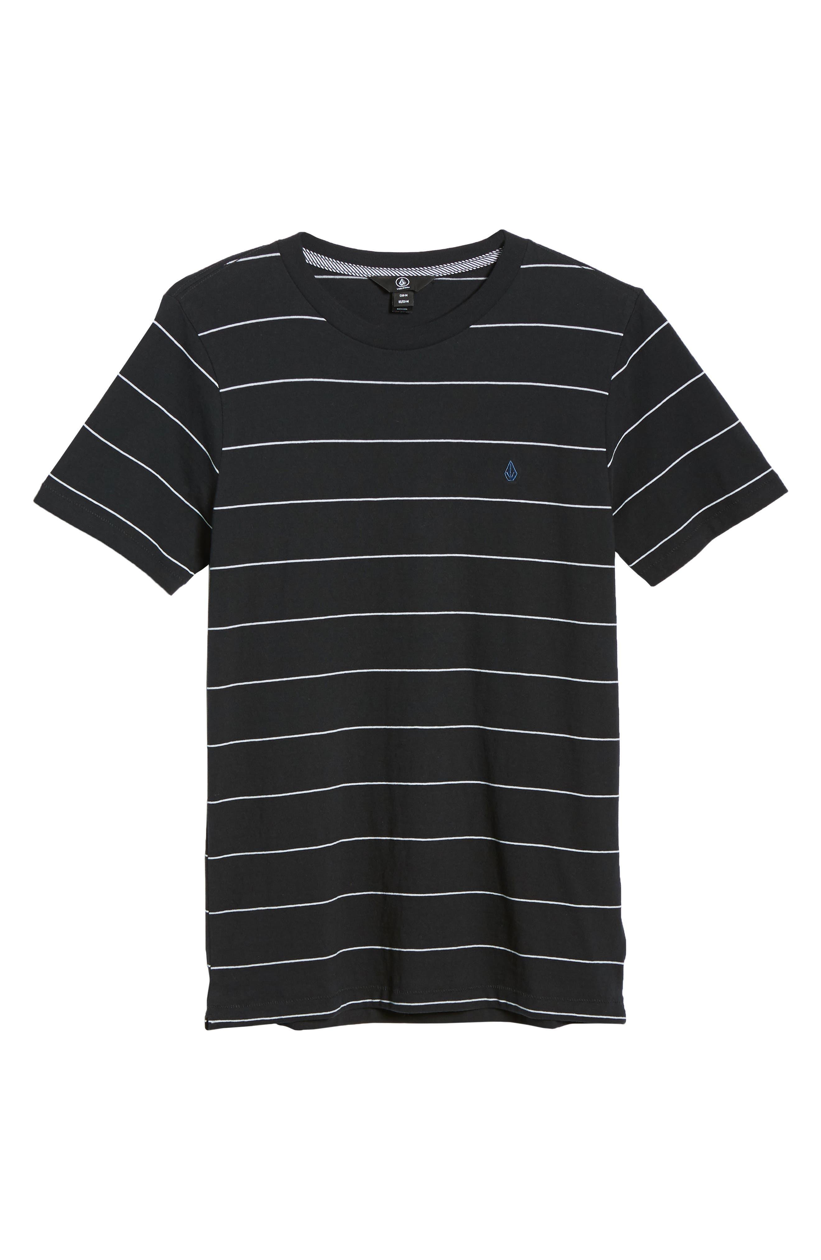 Joben Striped T-Shirt,                             Alternate thumbnail 6, color,                             BLACK