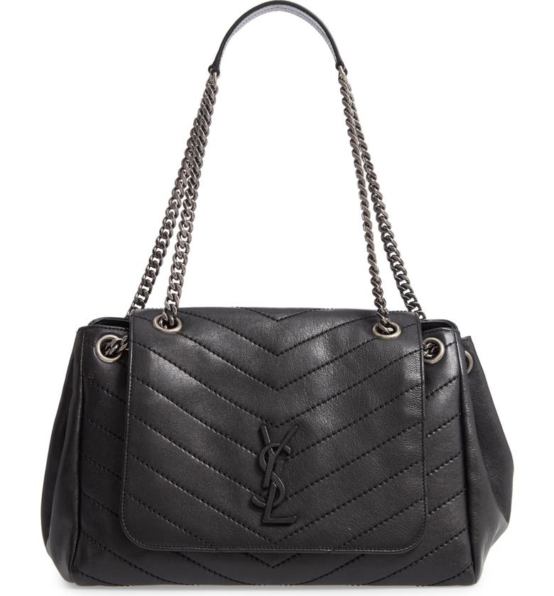 fc1169bb7392 Saint Laurent Nolita Large Leather Shoulder Bag