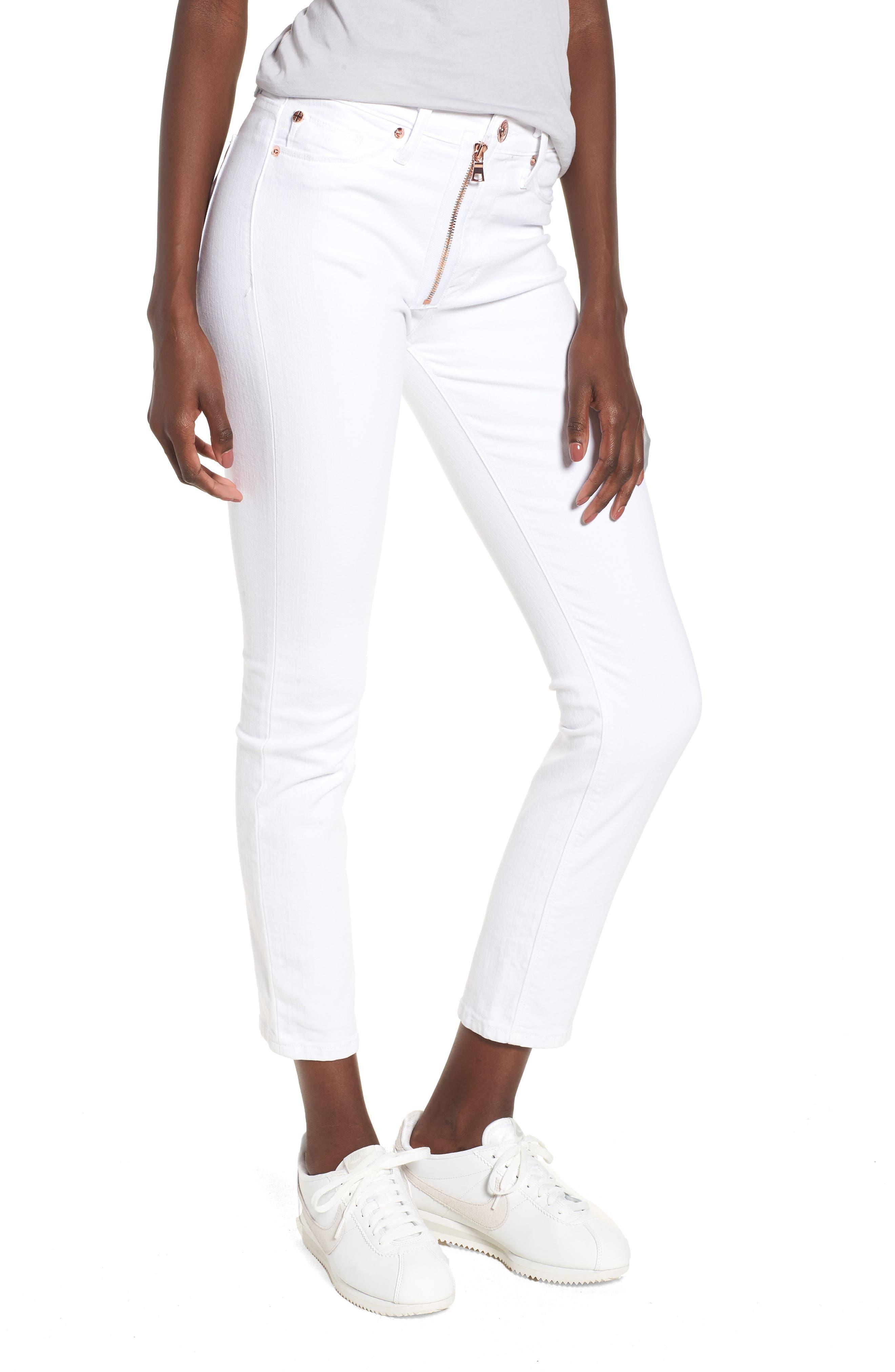 Barbara Exposed Zip High Waist Jeans,                             Main thumbnail 1, color,