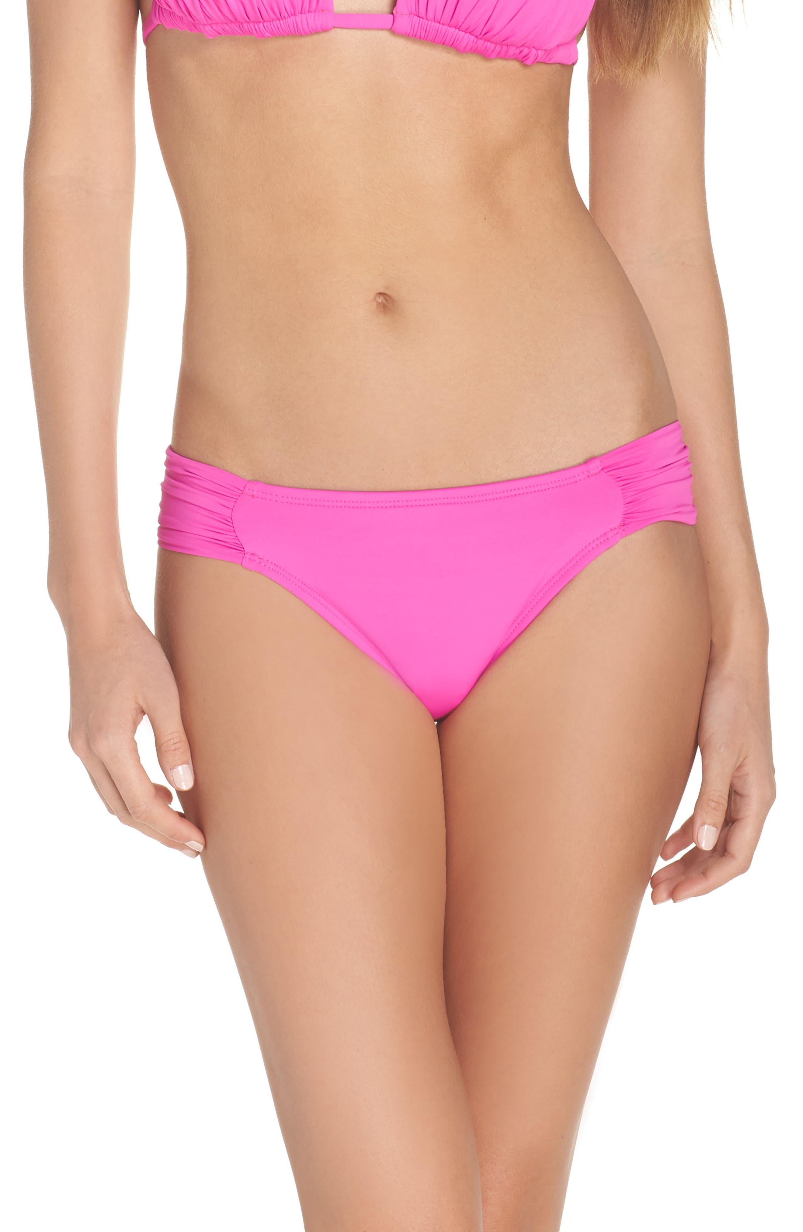 Island Blanca Halter Bikini Top,                         Main,                         color, ELECTRIC PINK