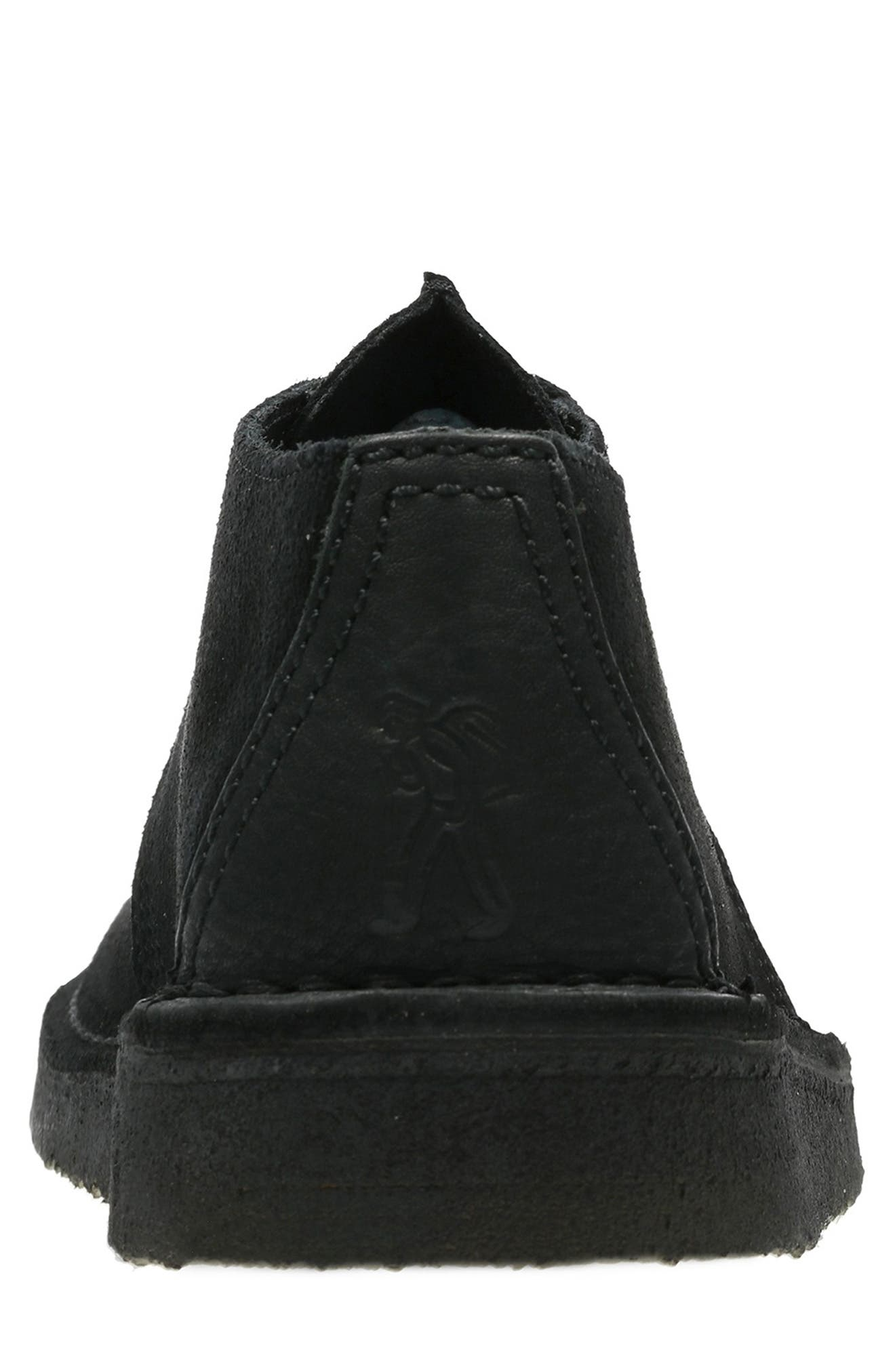 Originals 'Desert - Trek' Oxford,                             Alternate thumbnail 4, color,                             BLACK/BLACK SUEDE