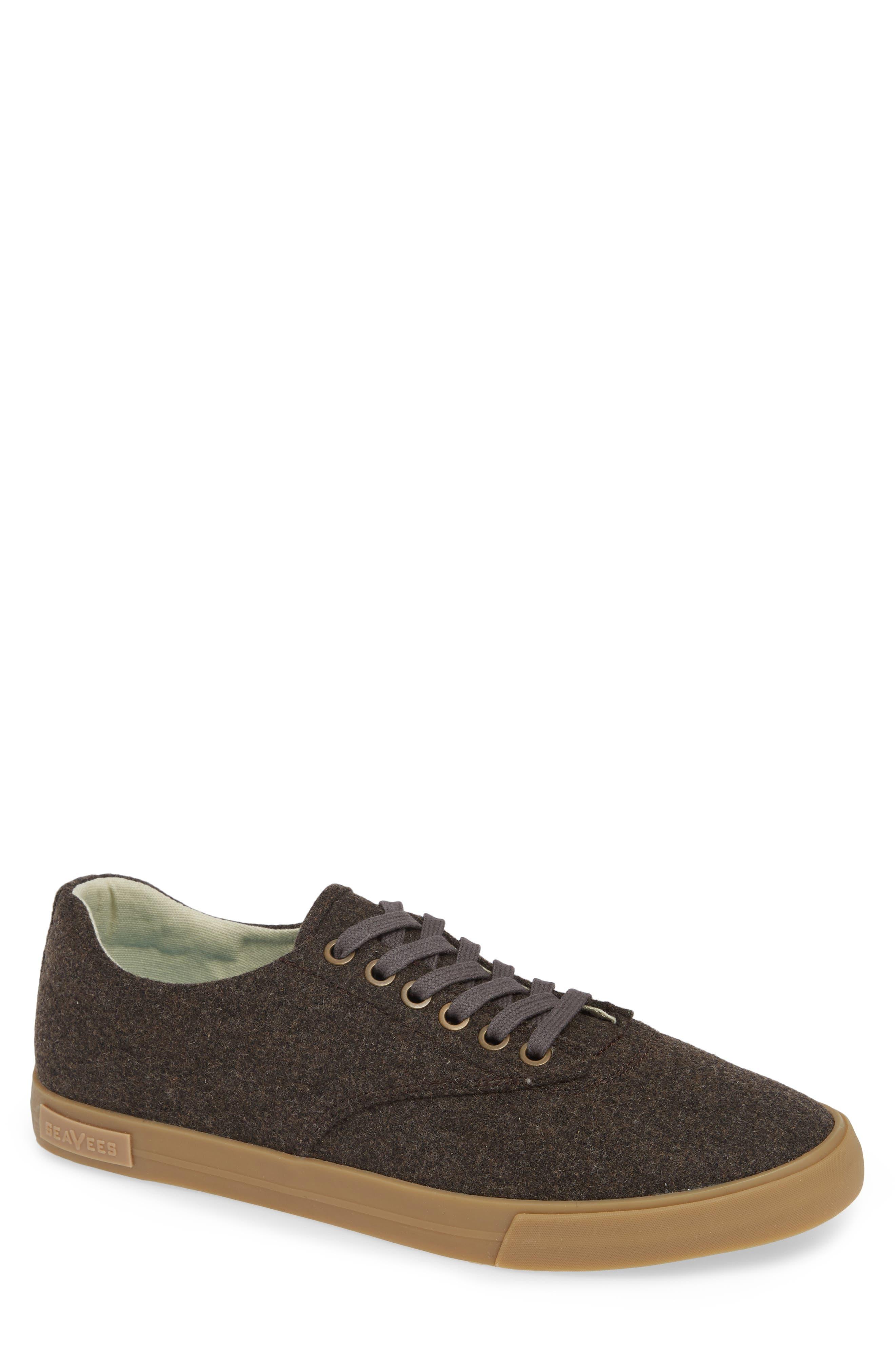 Hermosa Grayers Sneaker,                             Main thumbnail 1, color,                             DARK BROWN WOOL FLANNEL