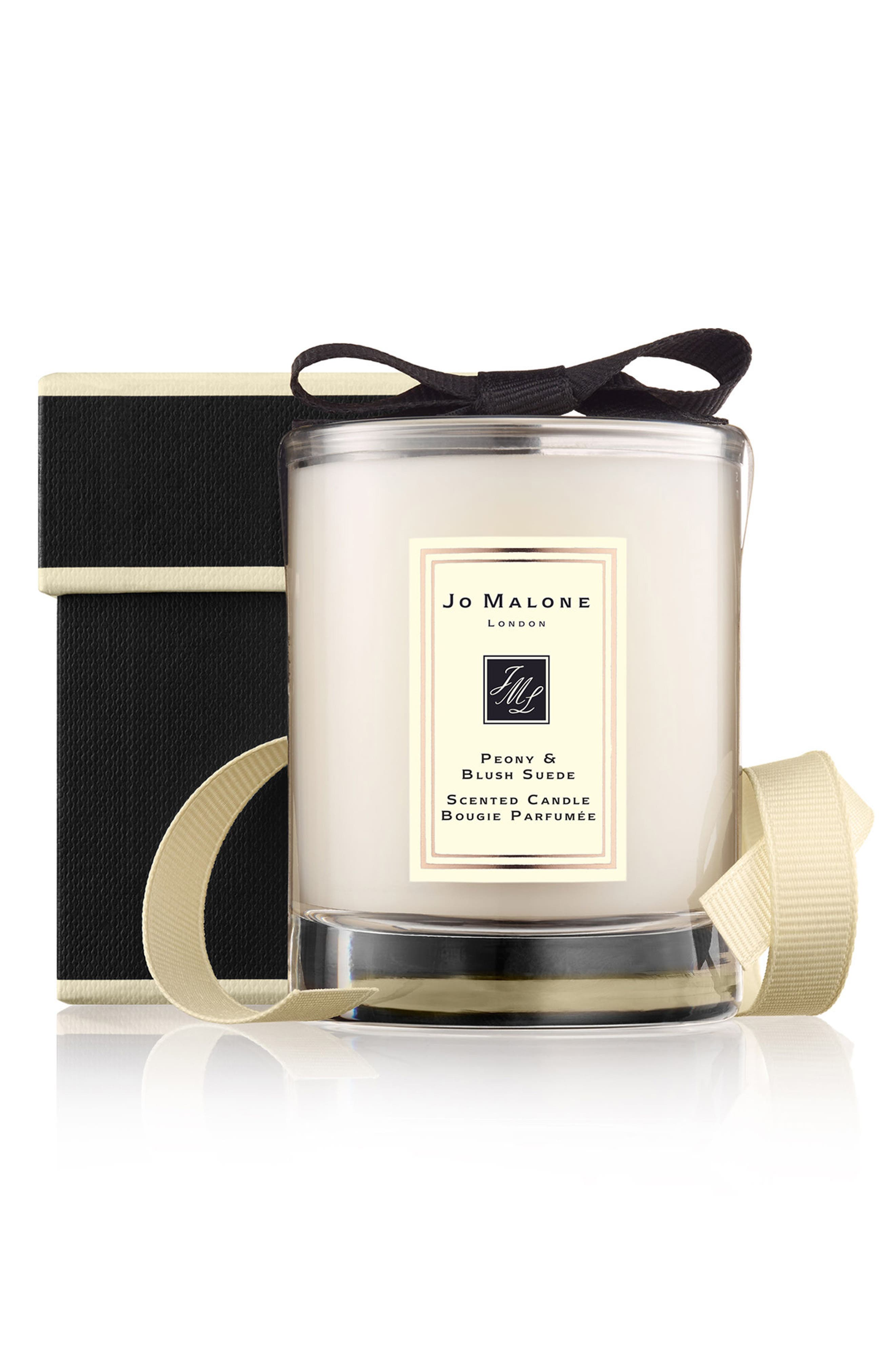 Peony & Blush Suede Travel Candle,                             Main thumbnail 1, color,                             000