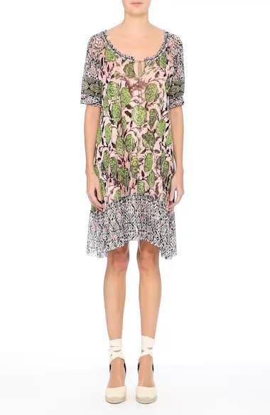 Print Tulle Peasant Dress, video thumbnail