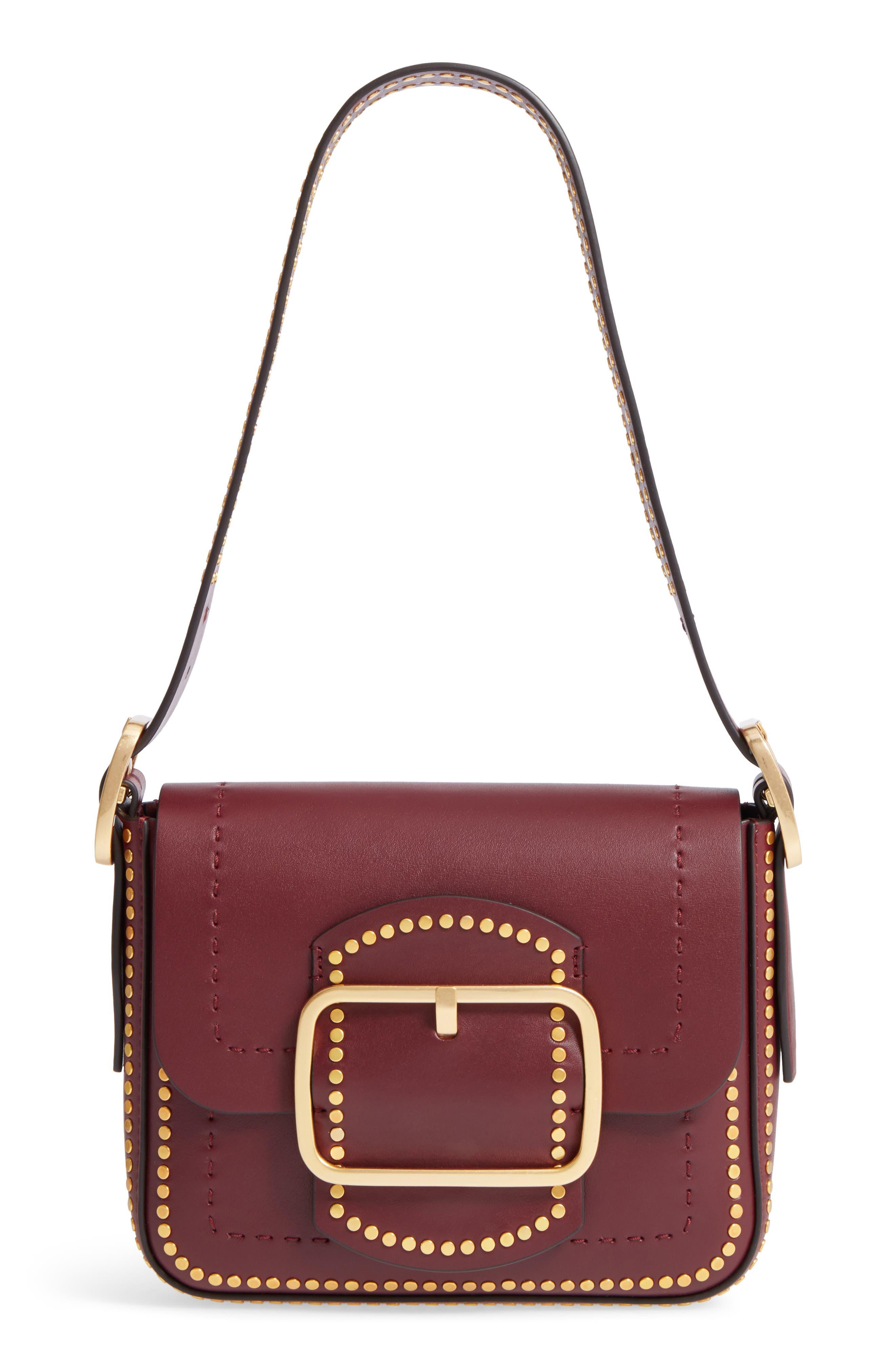 Small Sawyer Studded Leather Shoulder Bag,                         Main,                         color, 616