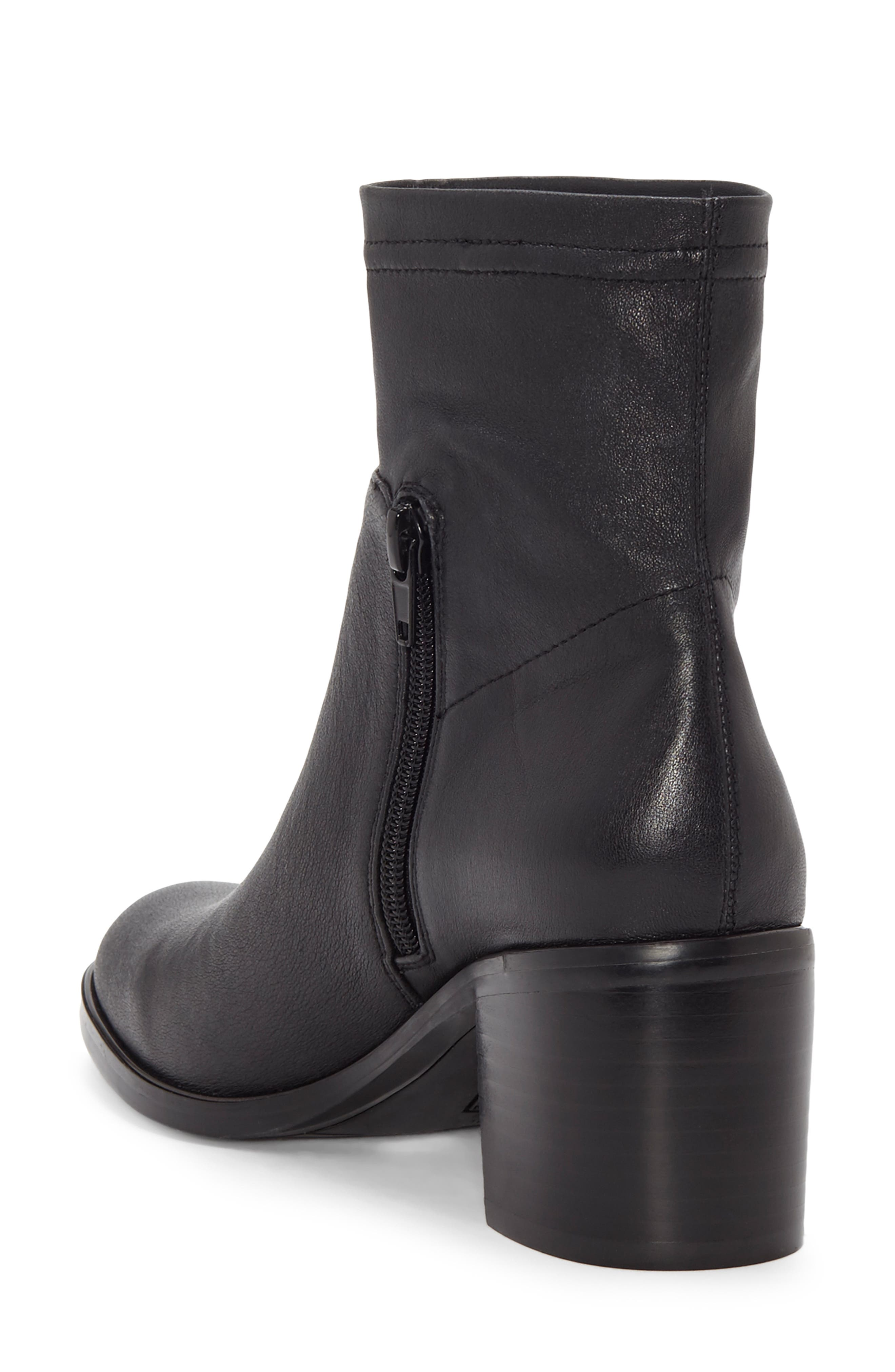 Jeandra Bootie,                             Alternate thumbnail 2, color,                             BLACK LEATHER