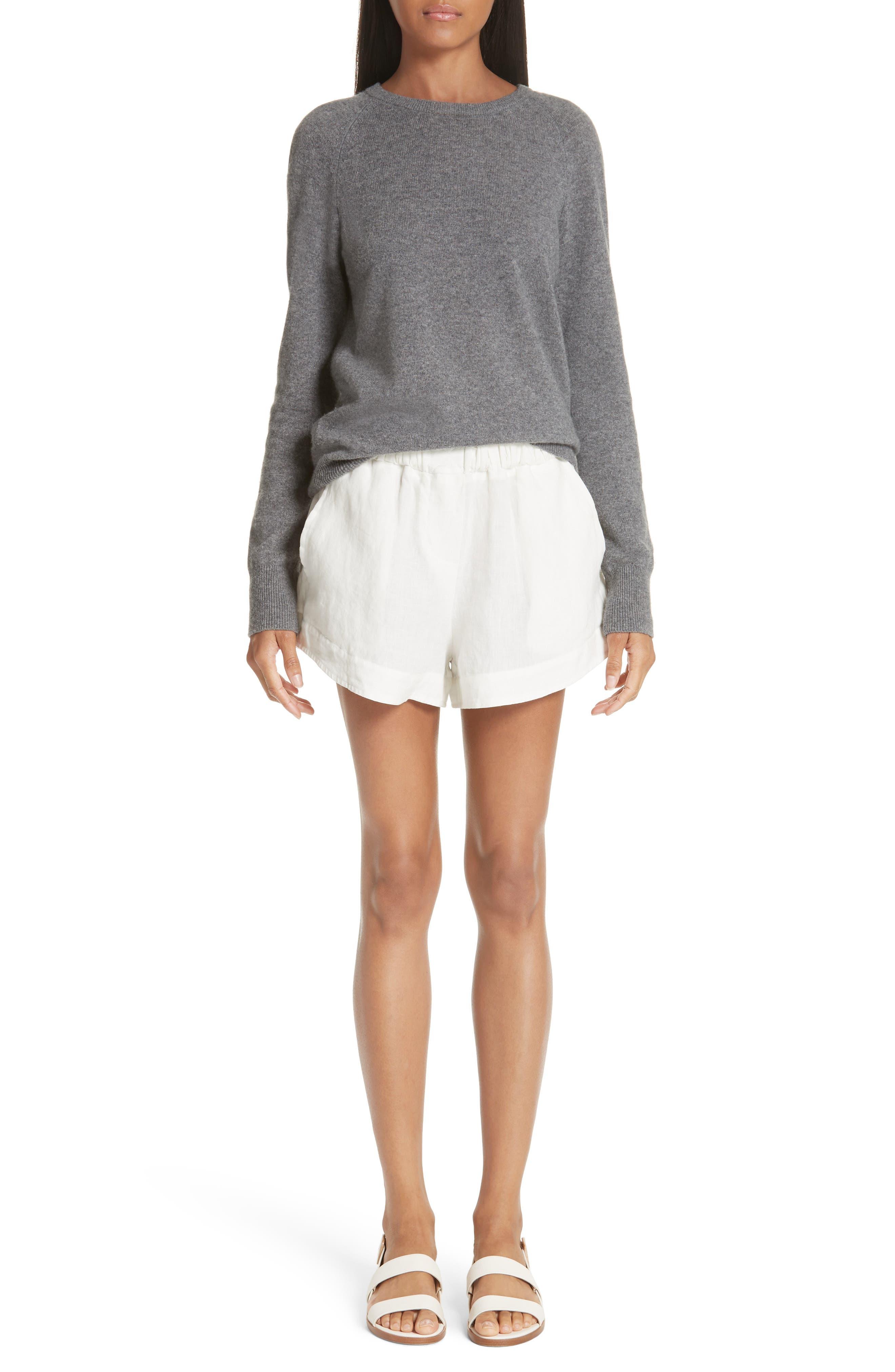 Nyssa Linen Shorts,                             Alternate thumbnail 2, color,                             IVORY