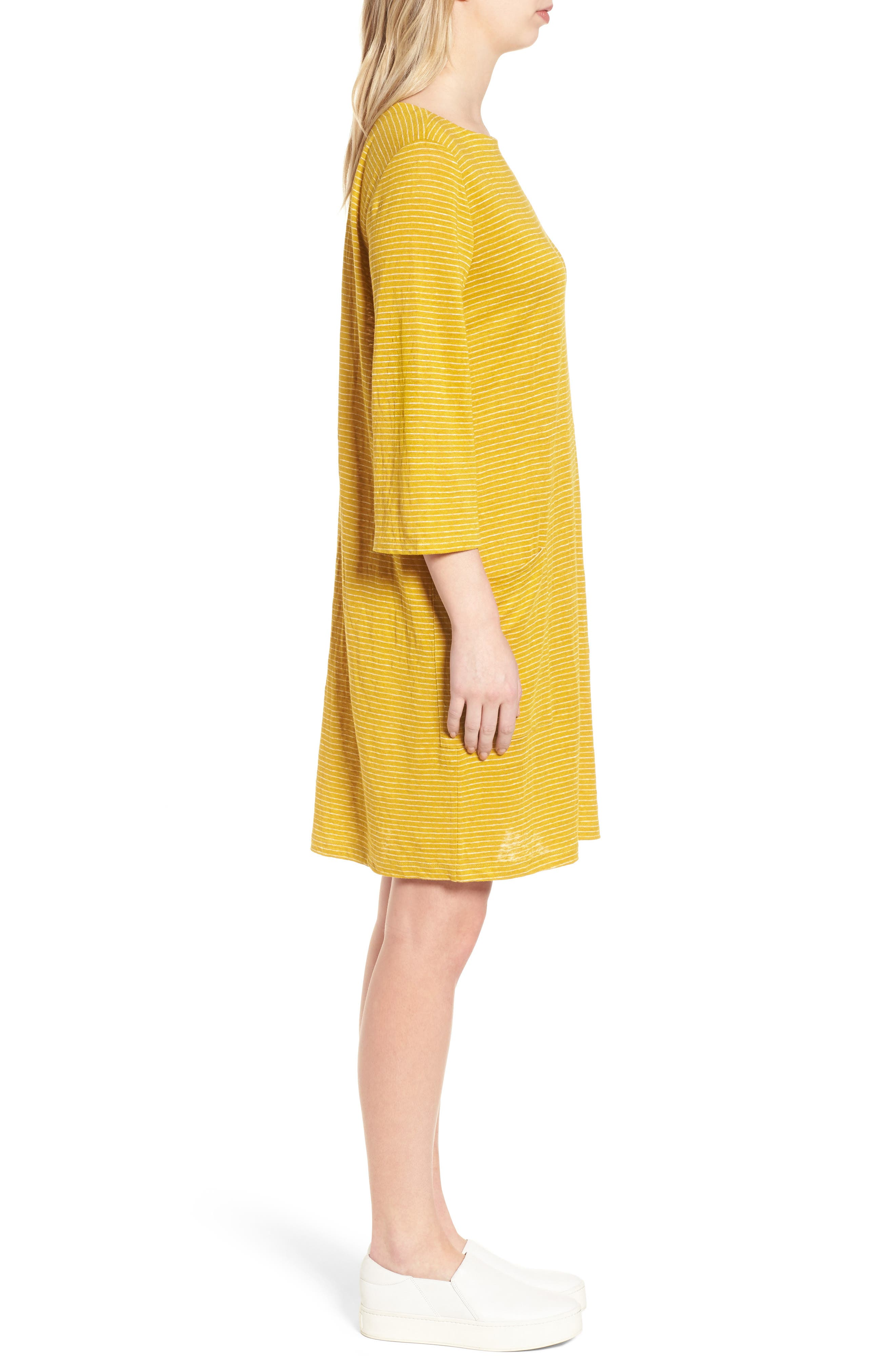 Organic Linen Shift Dress,                             Alternate thumbnail 9, color,