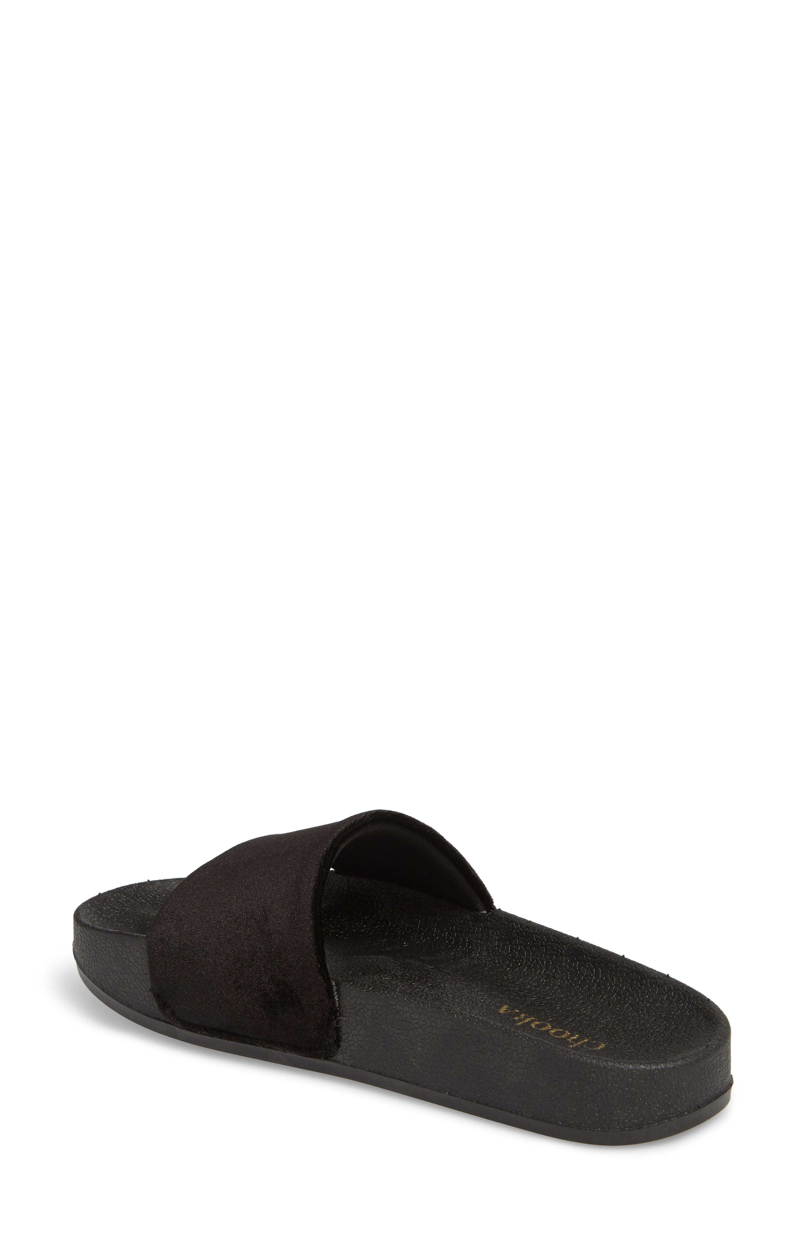 Slide Sandal,                             Alternate thumbnail 2, color,                             BLACK