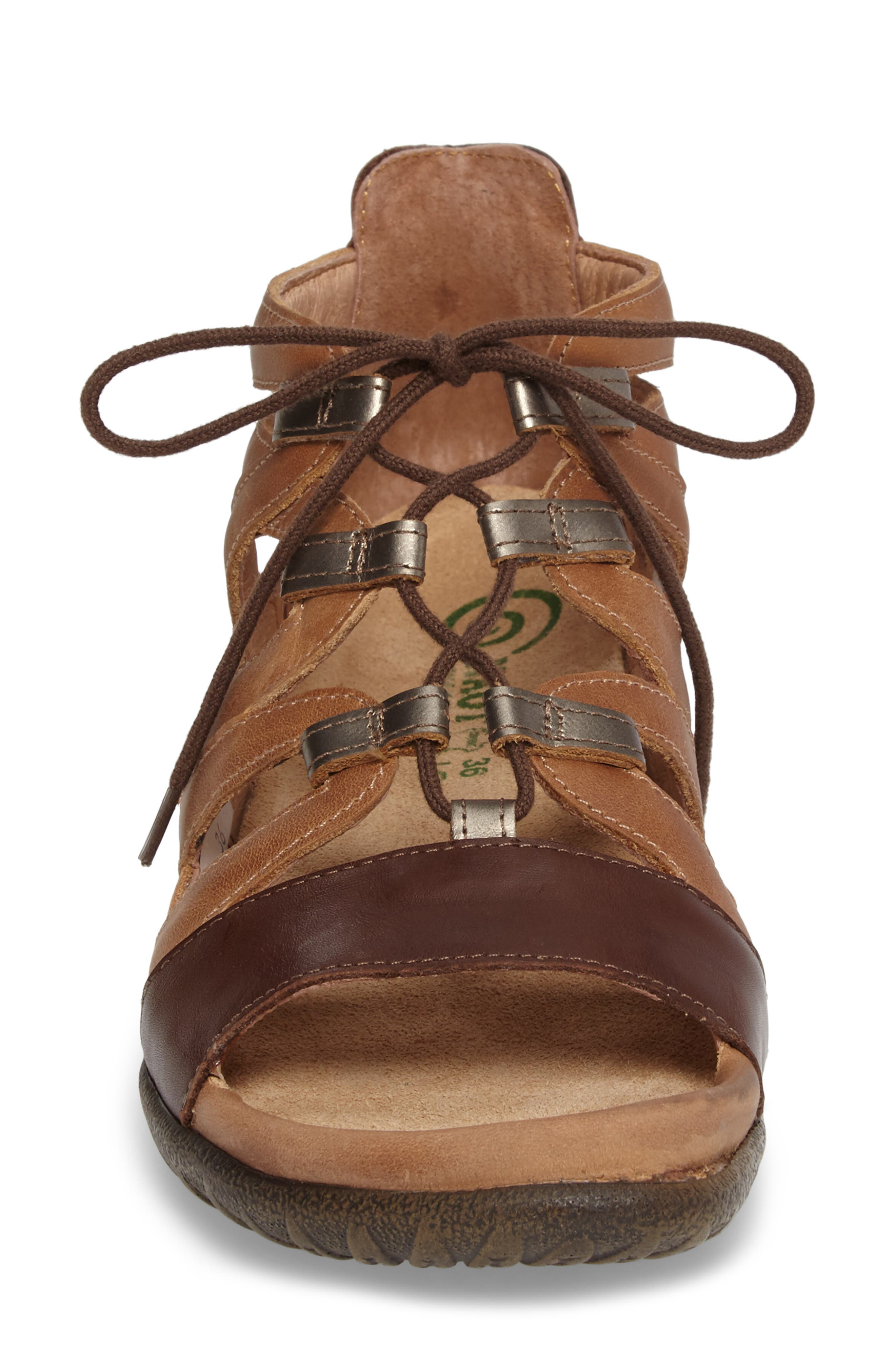 Selo Sandal,                             Alternate thumbnail 4, color,                             BROWN/ PEWTER LEATHER