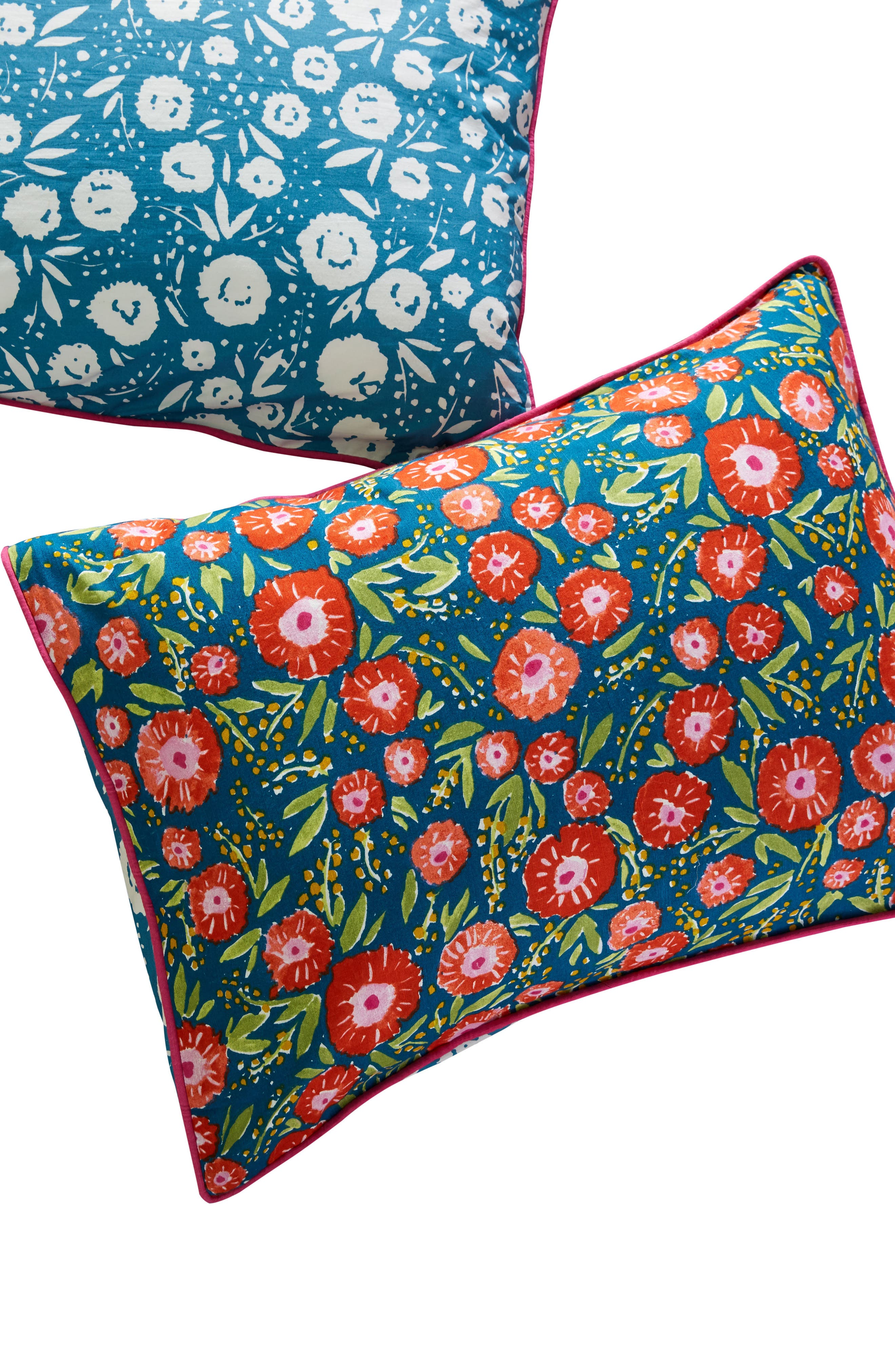 Painted Poppies Pillow Shams,                             Alternate thumbnail 2, color,                             BLUE