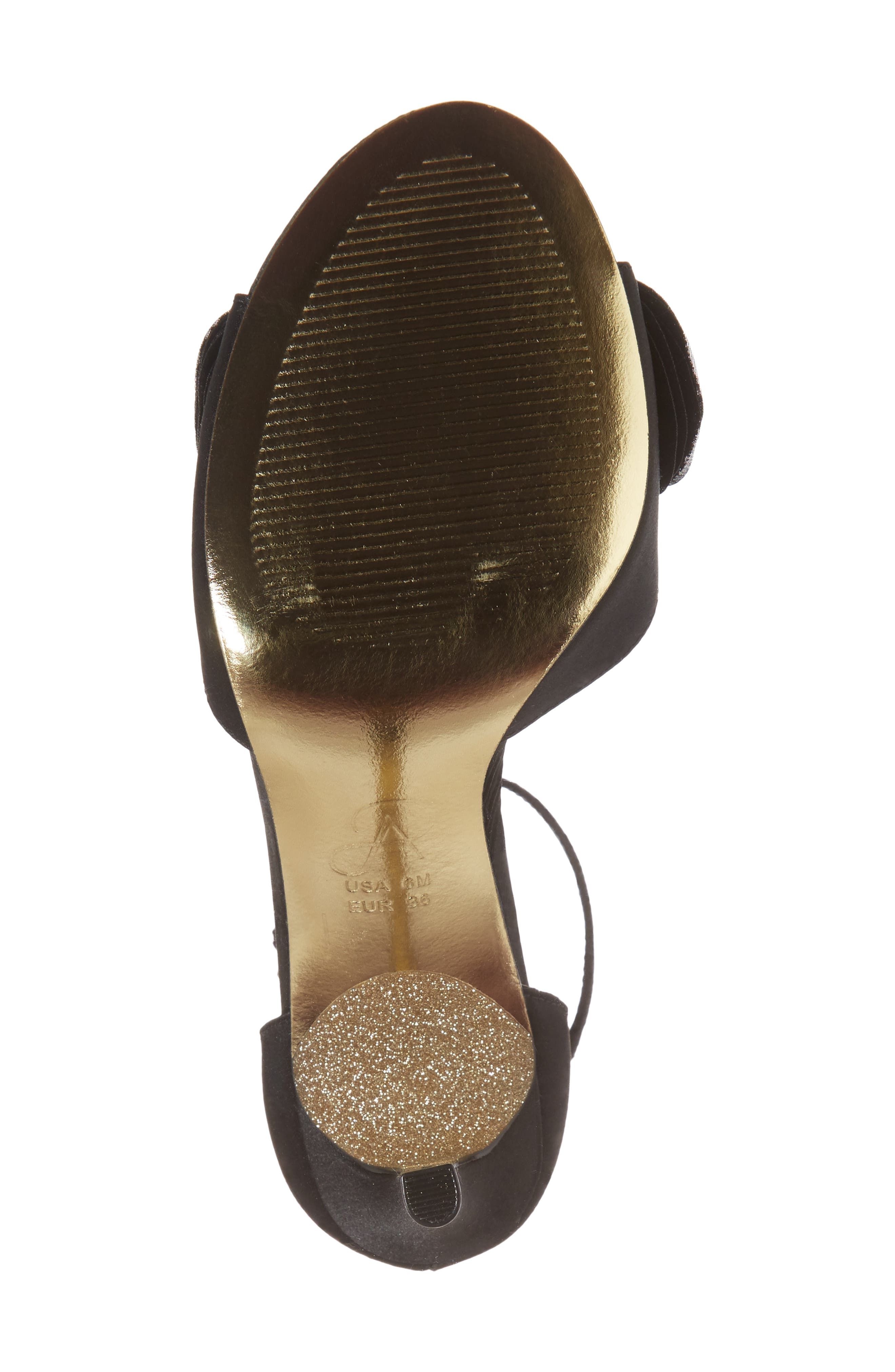 Gracie Ankle Strap Sandal,                             Alternate thumbnail 6, color,                             BLACK FABRIC