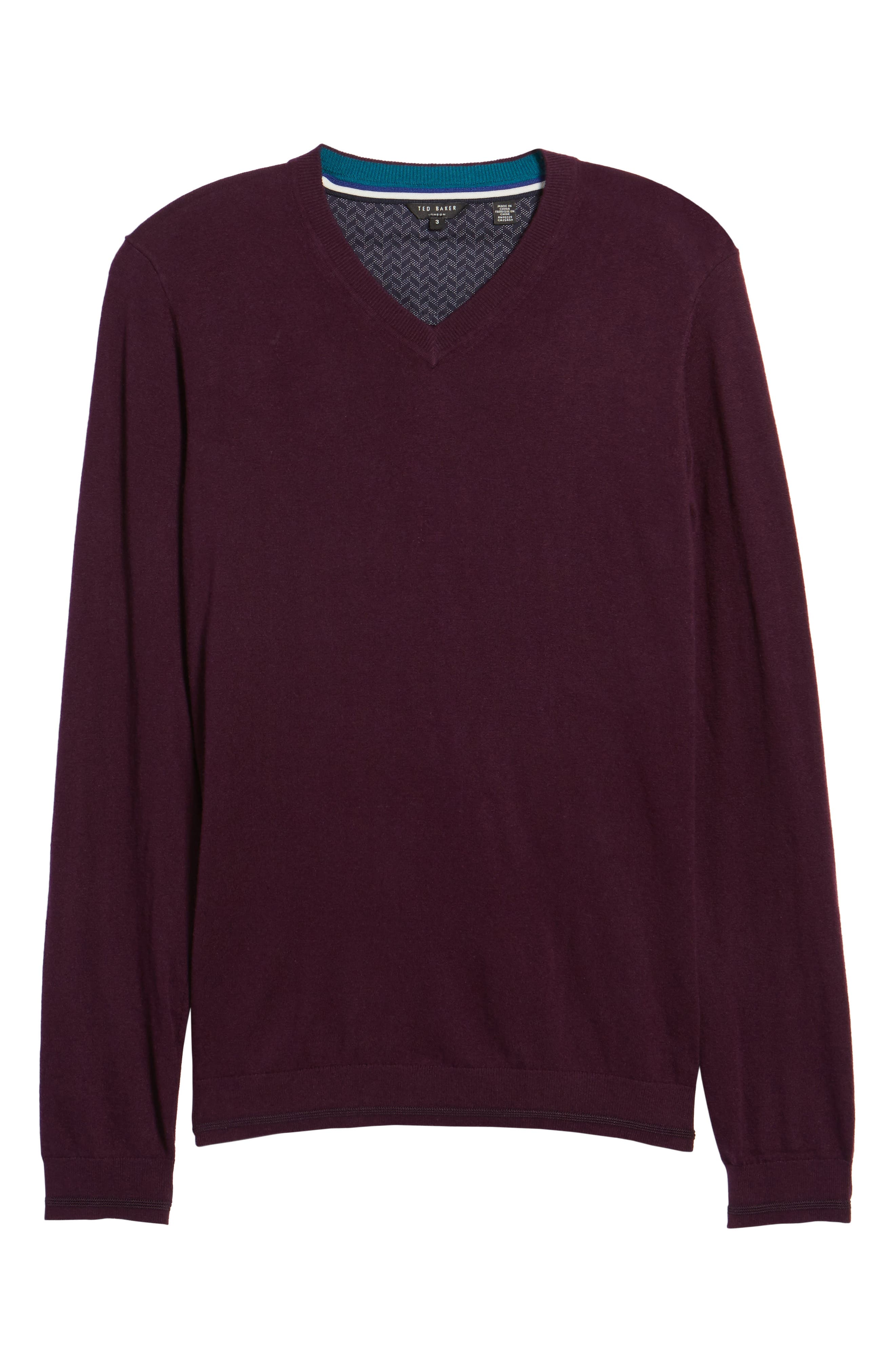 V-Neck Sweater,                             Alternate thumbnail 24, color,