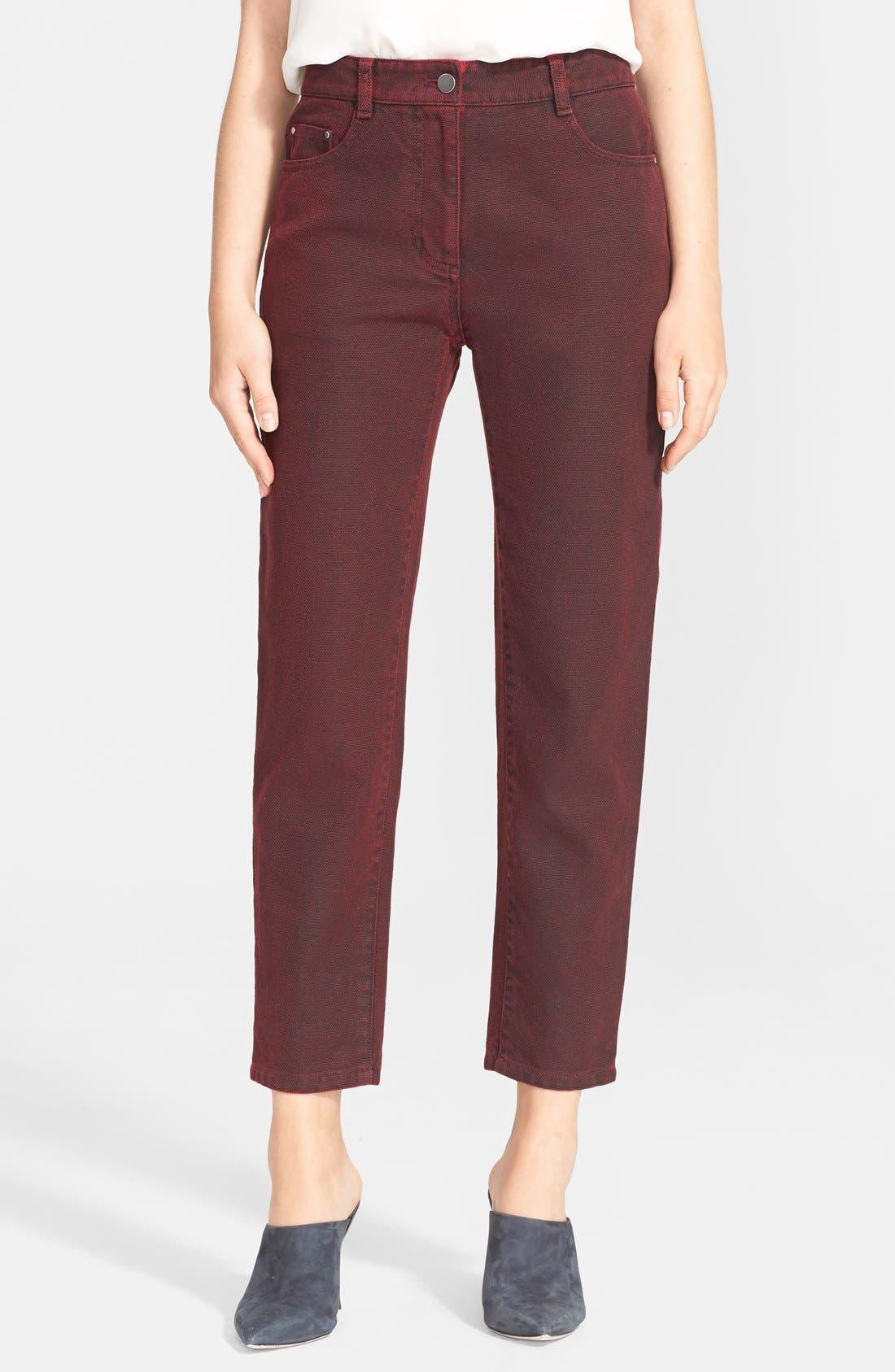 Crop Saddle Jeans, Main, color, 601
