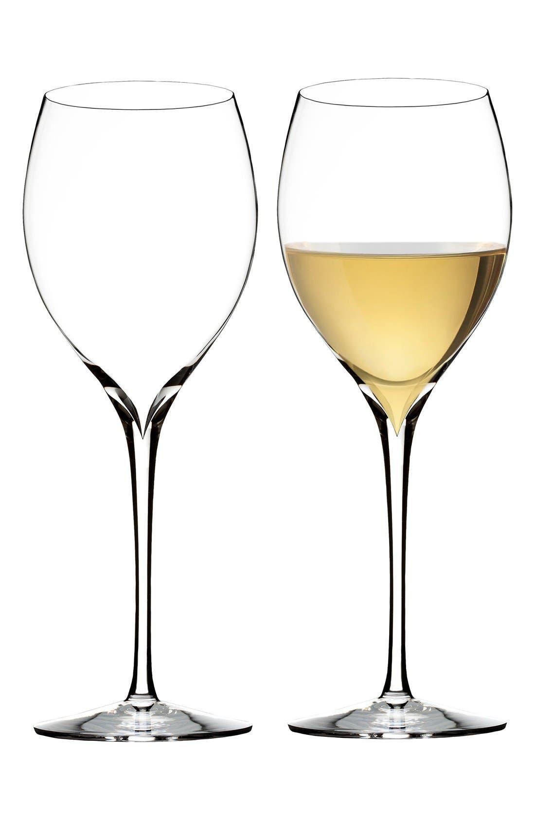 'Elegance' Fine Crystal Chardonnay Glasses,                             Alternate thumbnail 2, color,                             100