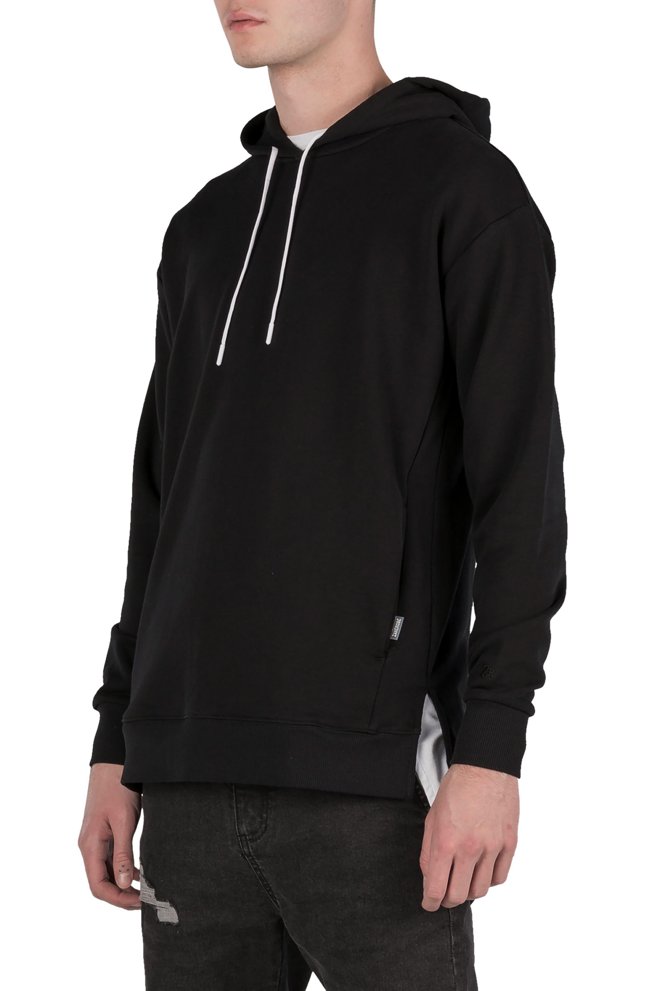 Rugger Hooded Sweatshirt,                             Alternate thumbnail 5, color,                             BLACK