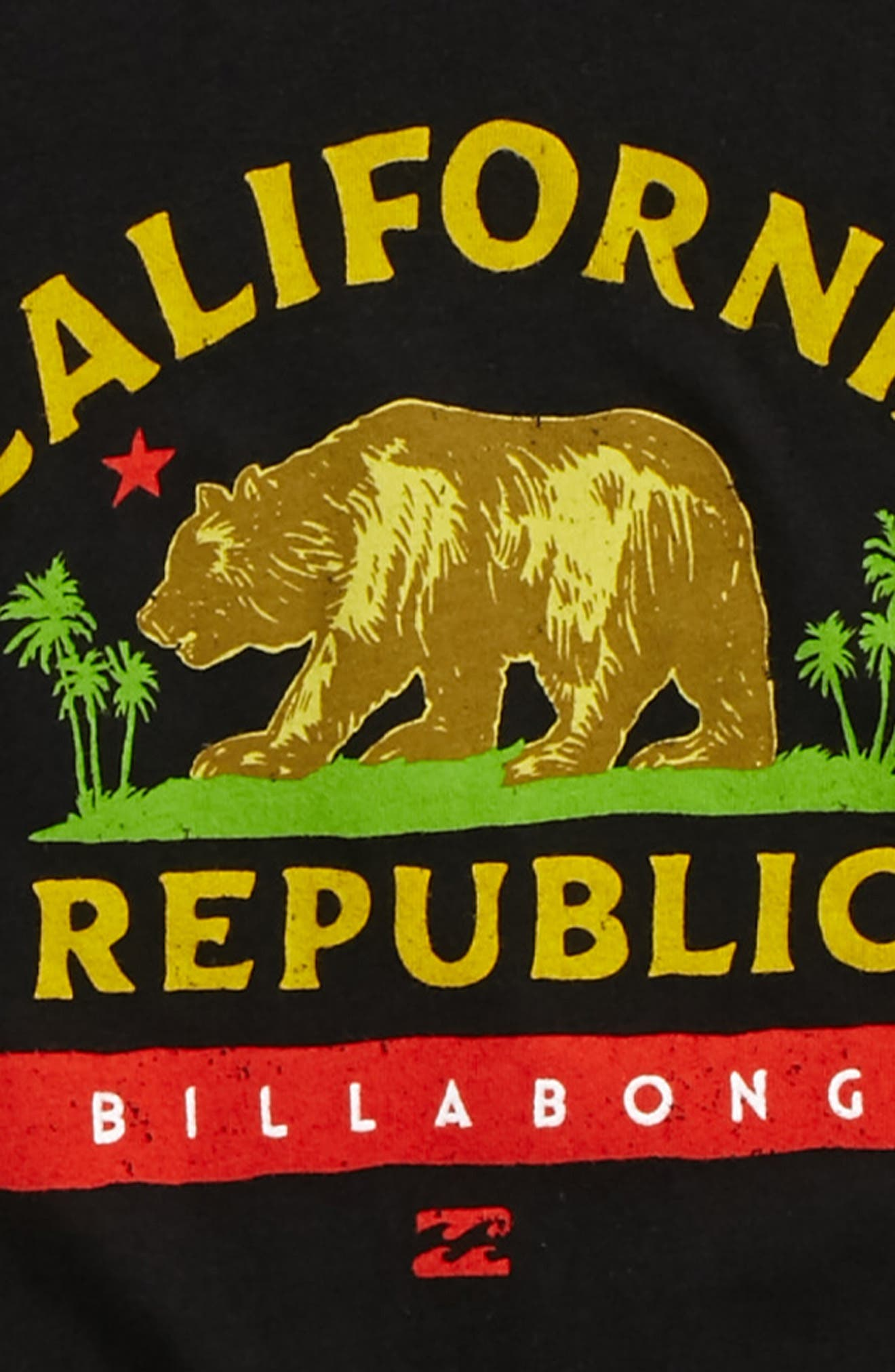 Cali Bear Graphic T-Shirt,                             Alternate thumbnail 2, color,                             001