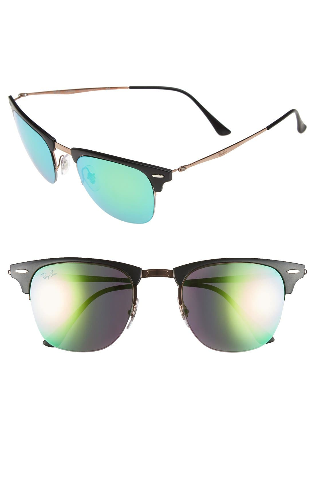 'Clubmaster' 51mm Sunglasses,                             Main thumbnail 1, color,