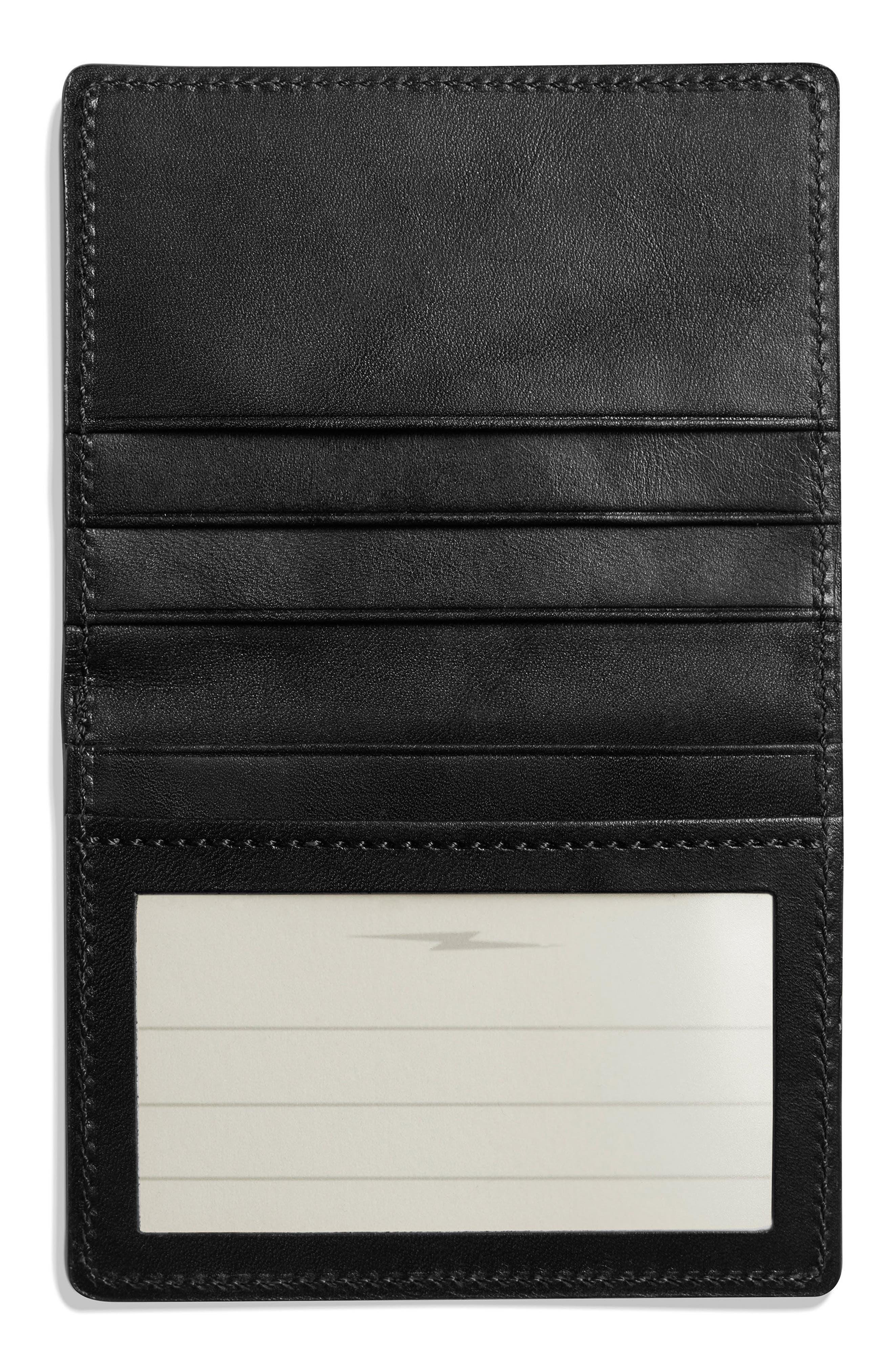 ID Card Wallet,                             Alternate thumbnail 2, color,                             BLACK