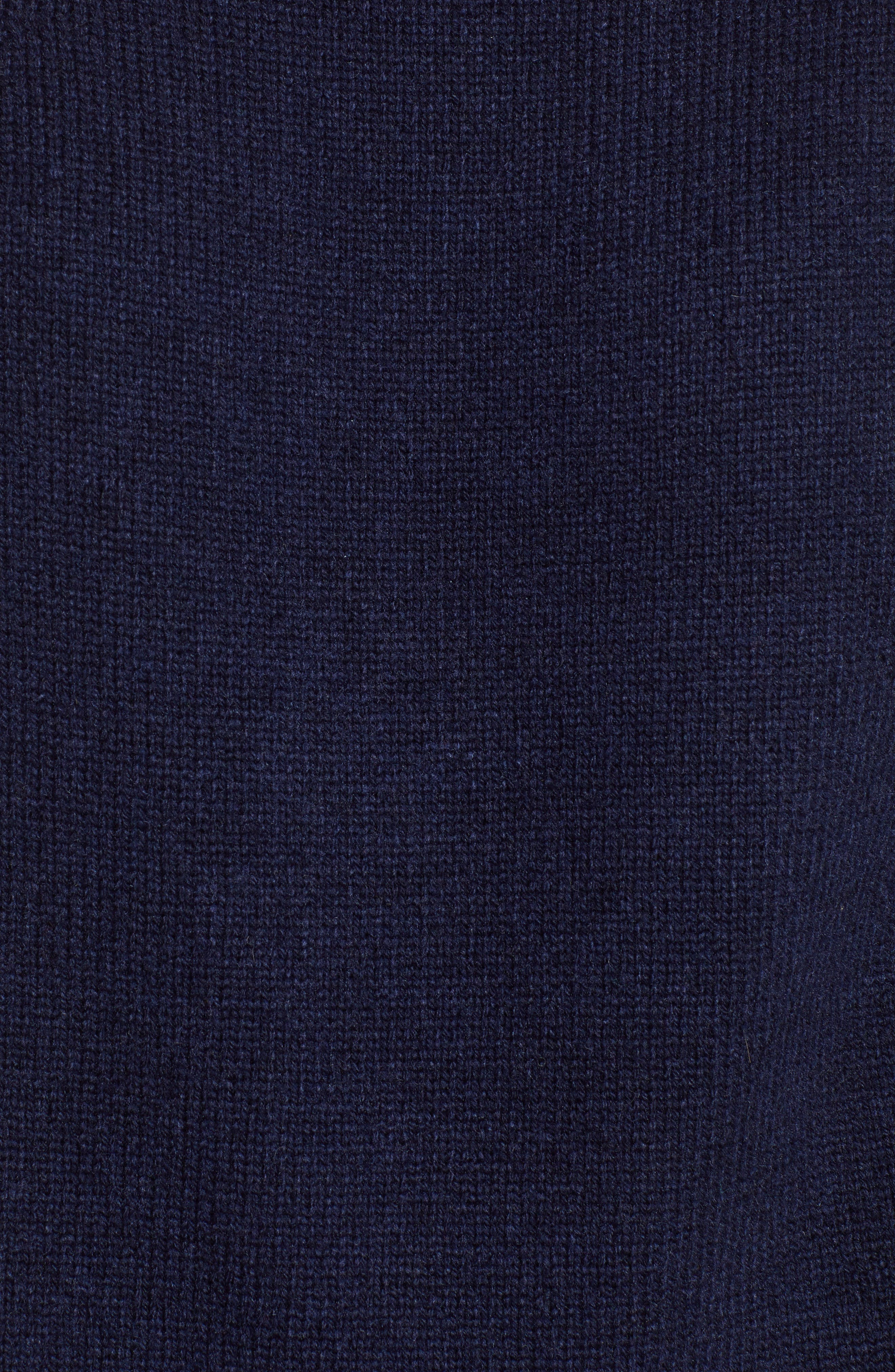 Sweater with Jeweled Buttons,                             Alternate thumbnail 5, color,                             NAVY