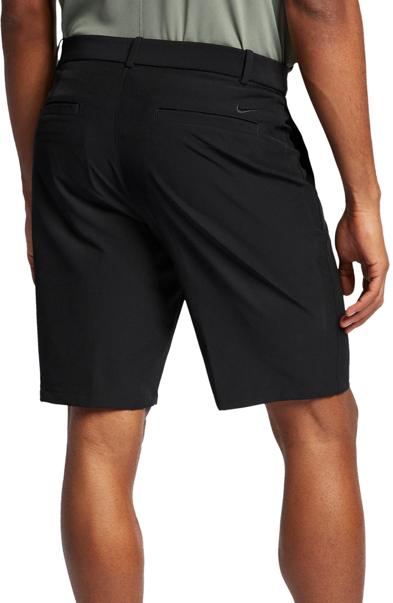 Flex Hybrid Standard Fit Golf Shorts,                             Alternate thumbnail 2, color,                             BLACK/ BLACK